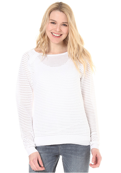 Banc Équipage Maille Tricotée - Para Jersey Mujeres - Blanco