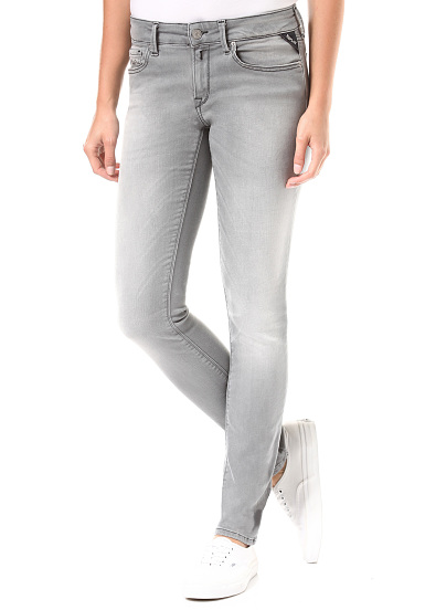 Jeans Replay Femmes Gris Clair