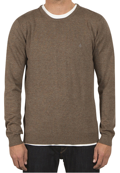 Uperstand Équipage Volcom - Sweat-shirt Pour Les Hommes - Beige