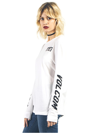 Volcom Stoned Simplement - Manches Longues Femmes - Blanc