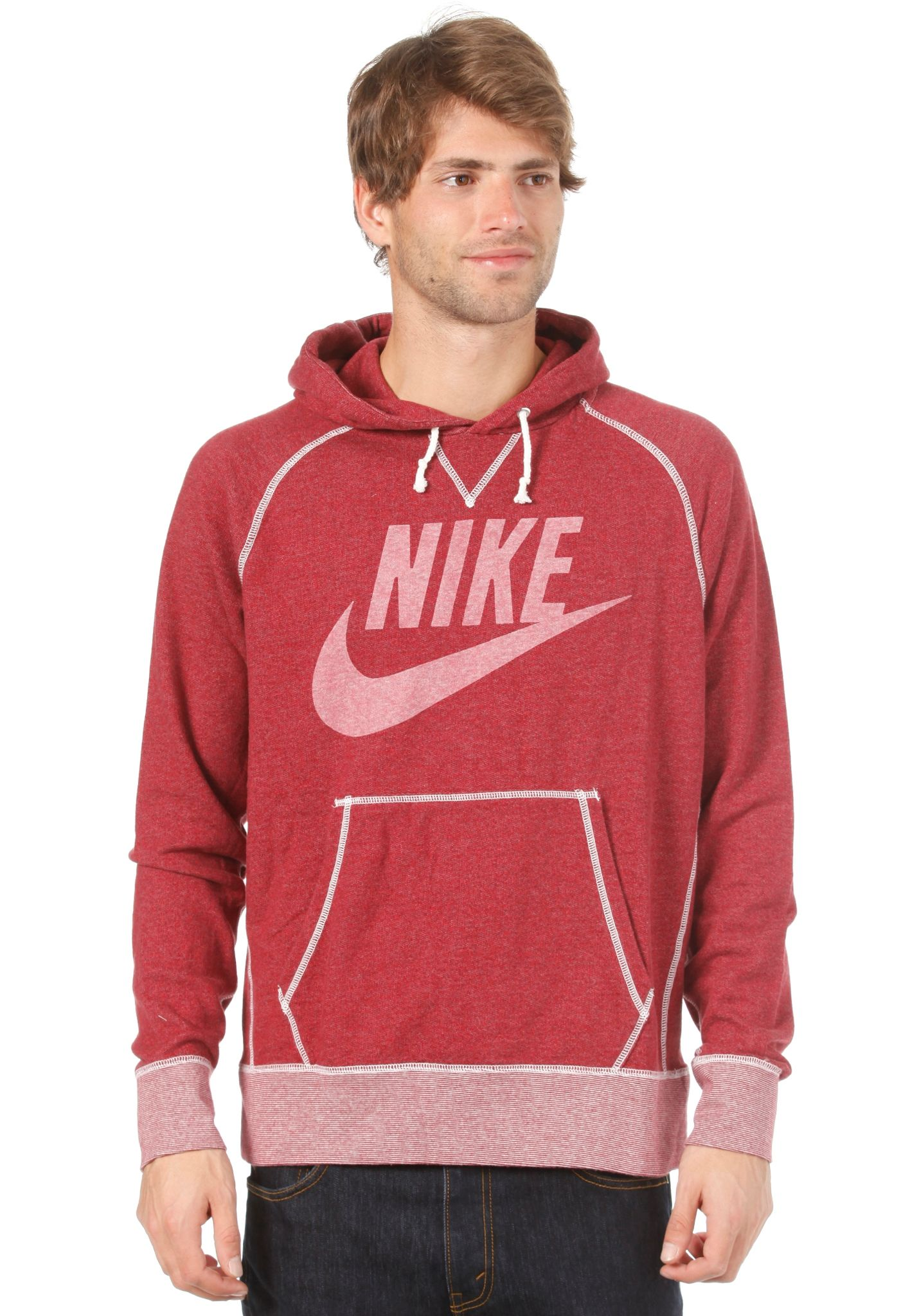 Logo Hombres Sportswear Para Pullover Marl Vintage Nike Sudadera P74wOqwt