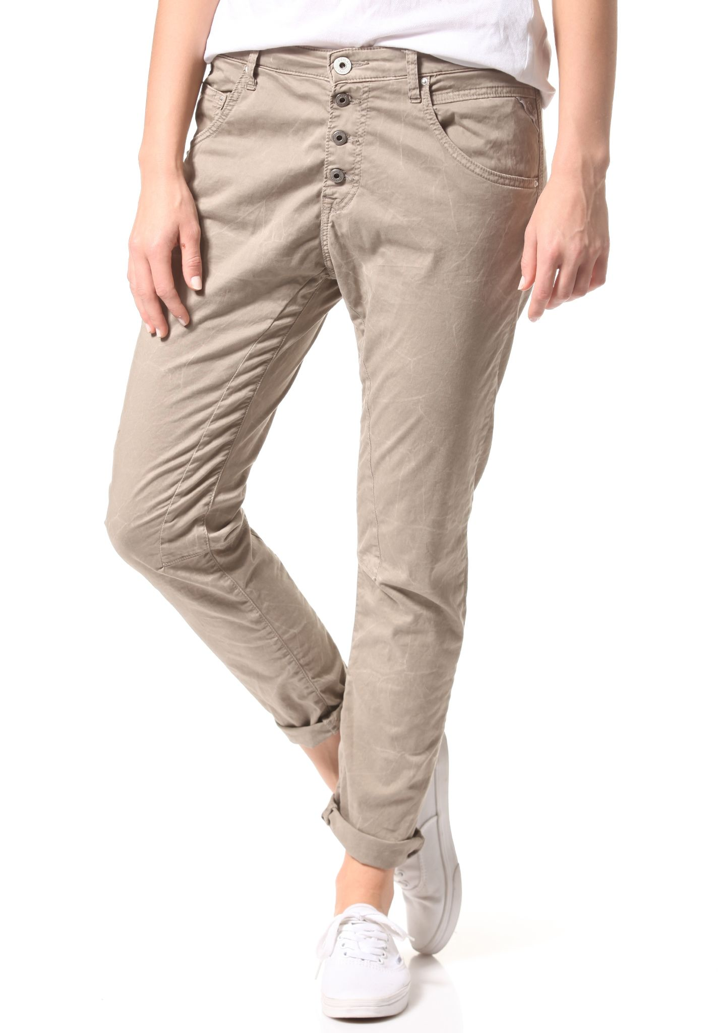 spesso Replay WX657.000.8036582 - Pantaloni chinos per Donna - Beige  HE35