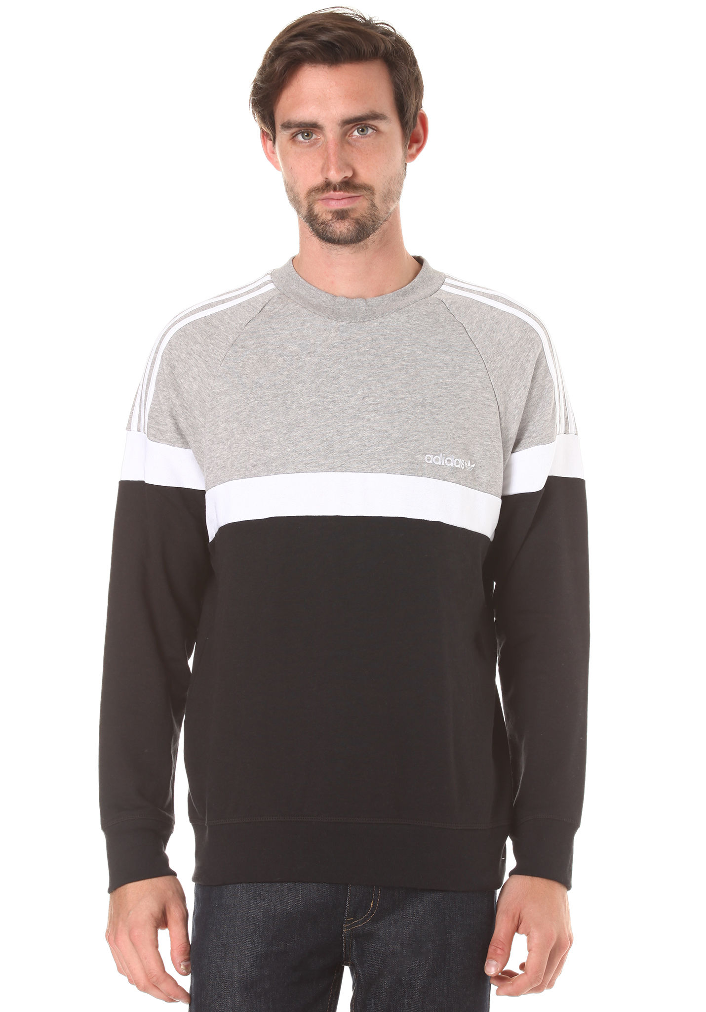 Sudadera Sports Hombres Para Crew Adidas Planet Negro Itasca RzxT77