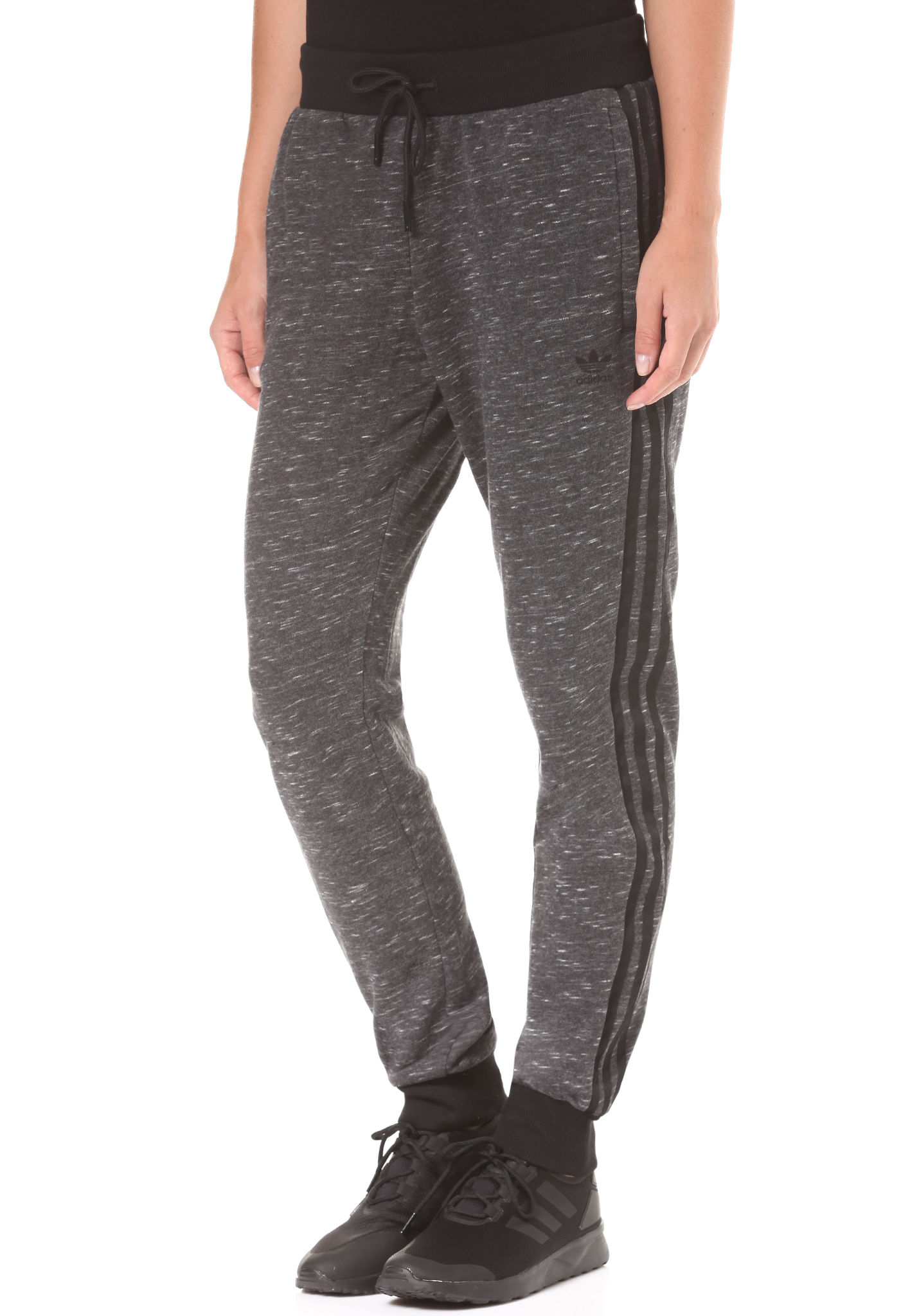 Pantalon Gris Adidas Cuffed Tp Femme Pour Originals Regular Yvf6g7by