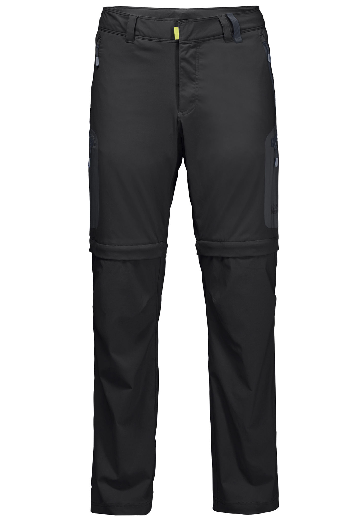 Light For Wolfskin Off Zip Activate Jack Men Black Trousers E7wvqY