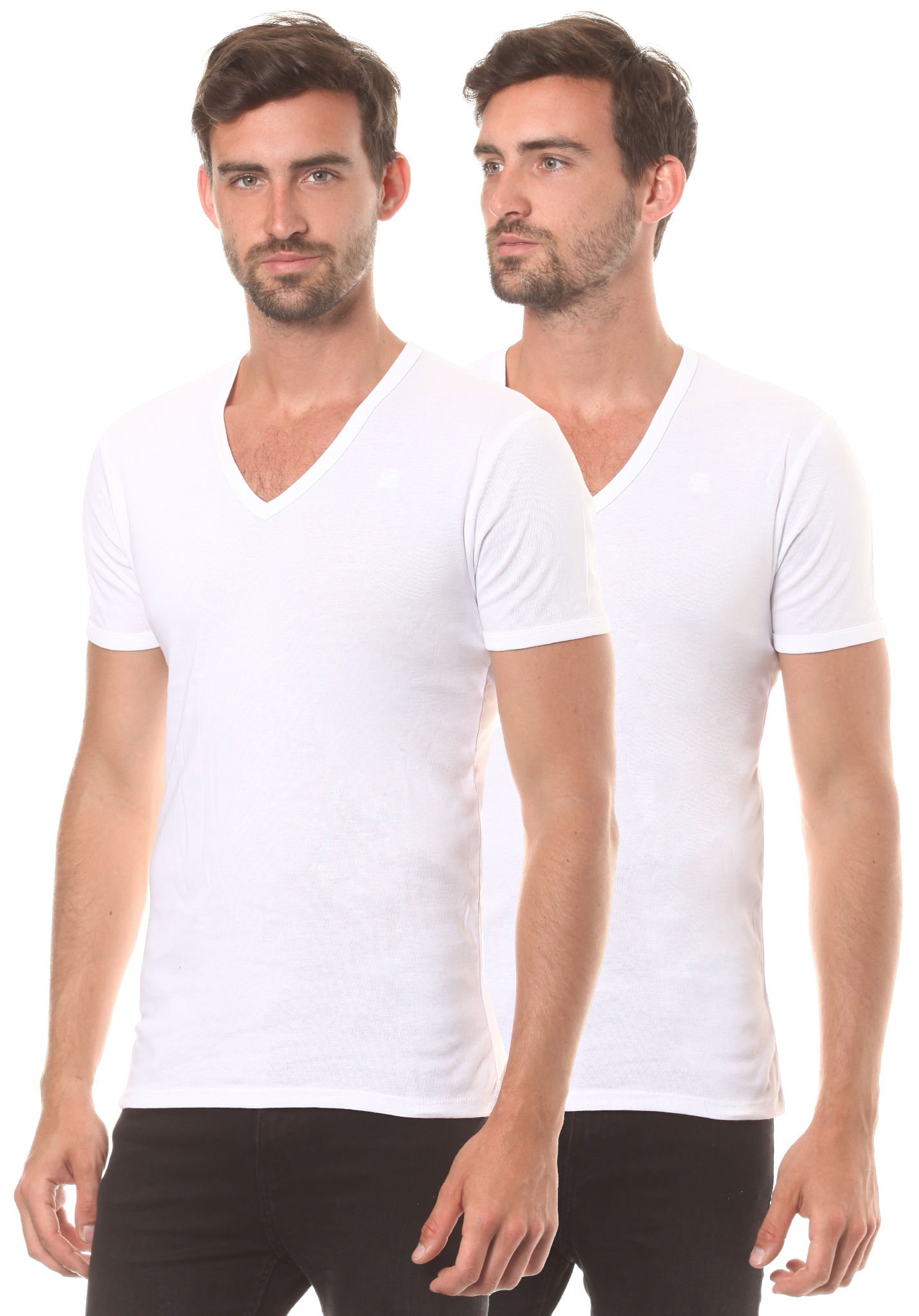Base Star T V Shirt Pack Blanc 2 Homme G Pour by7gf6