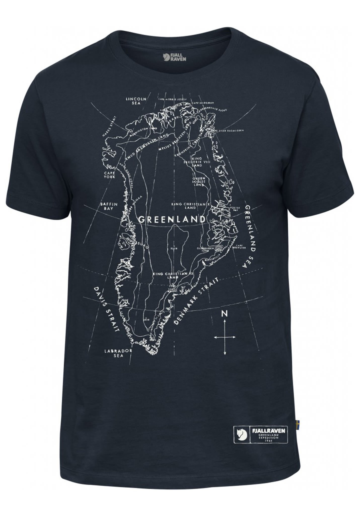 T Sports Fjällräven Planet Blu Greenland Shirt Map Per Uomo BxshrtQdC