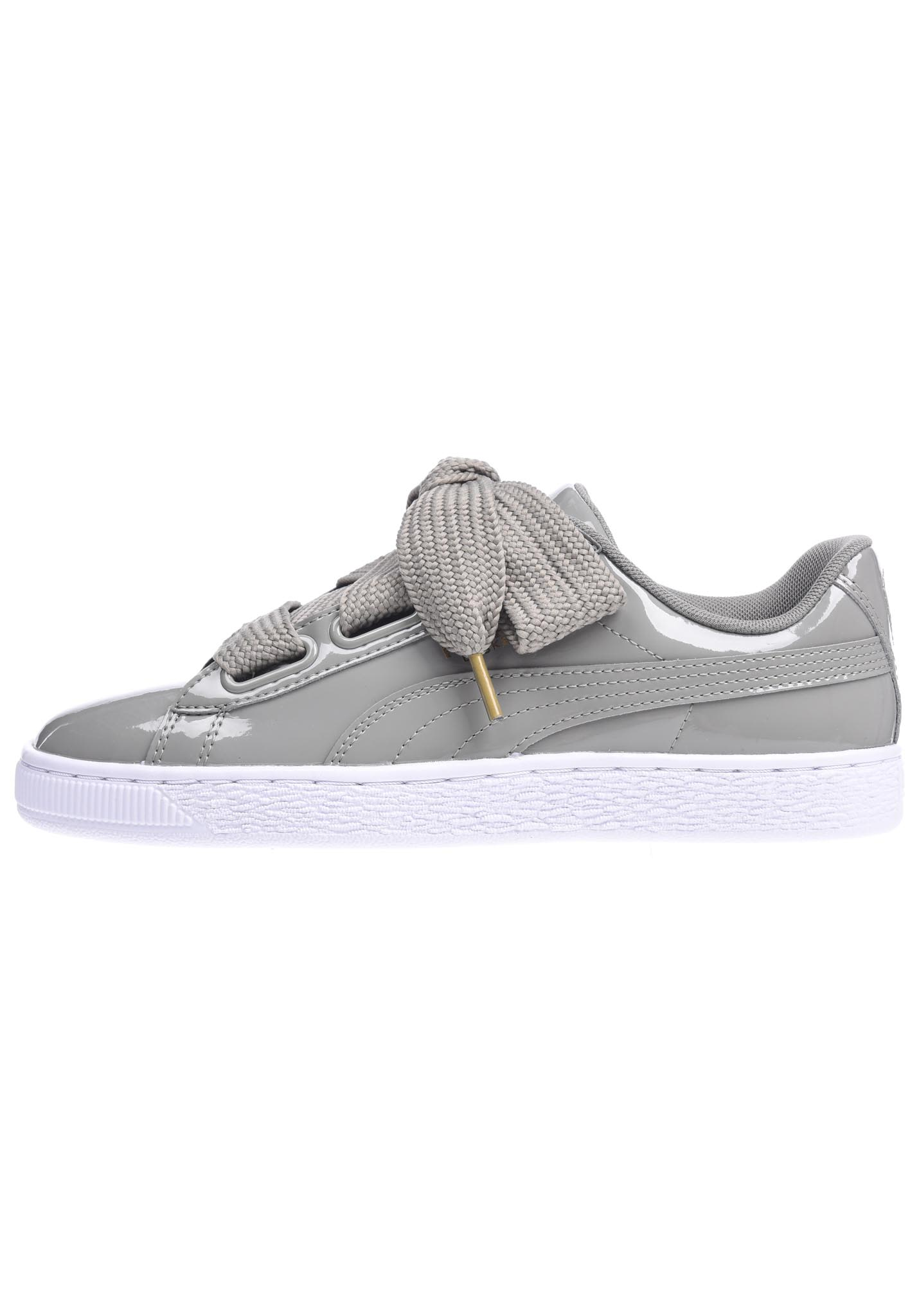 Grey Sneakers Basket For Patent Women Puma Heart edCBox