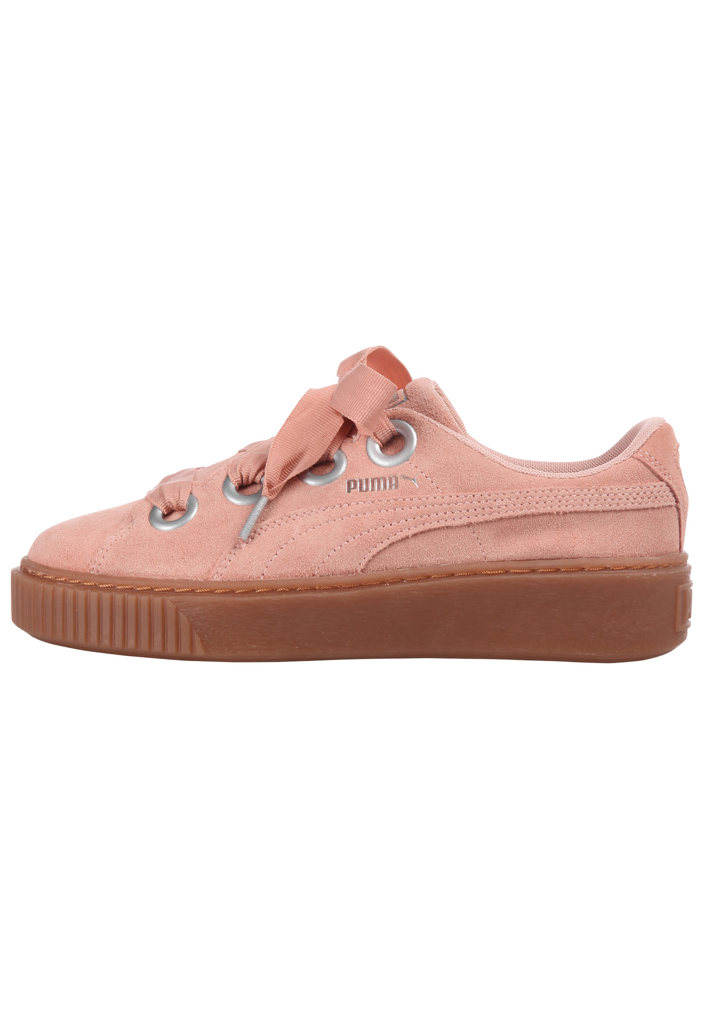 For Women Pink Puma Sneakers Kiss Suede Platform W9H2eEYID