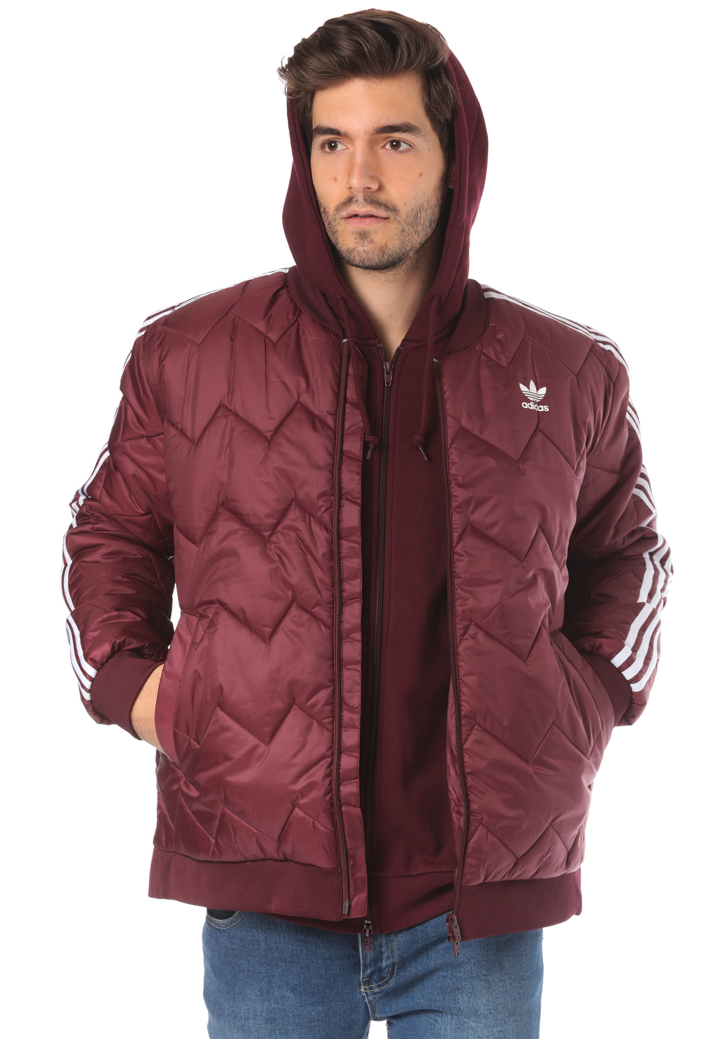 Per Sst Rosso Adidas Giacca Originals Planet Quilted Uomo Sports rqqCP6I