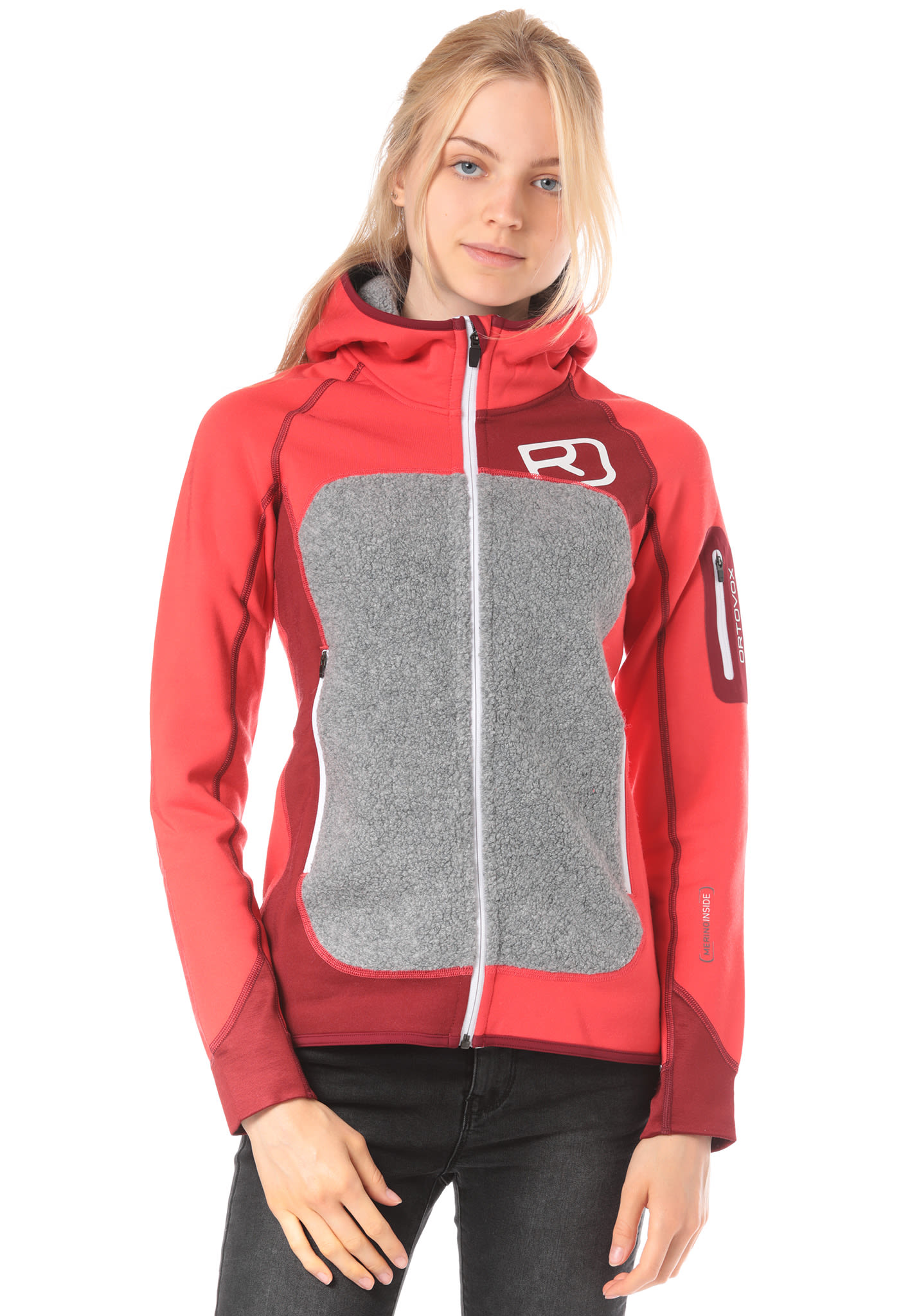 Pour Veste Polaire Ortovox Femme Planet Fleece Rouge Sports Plus 46qw4FI