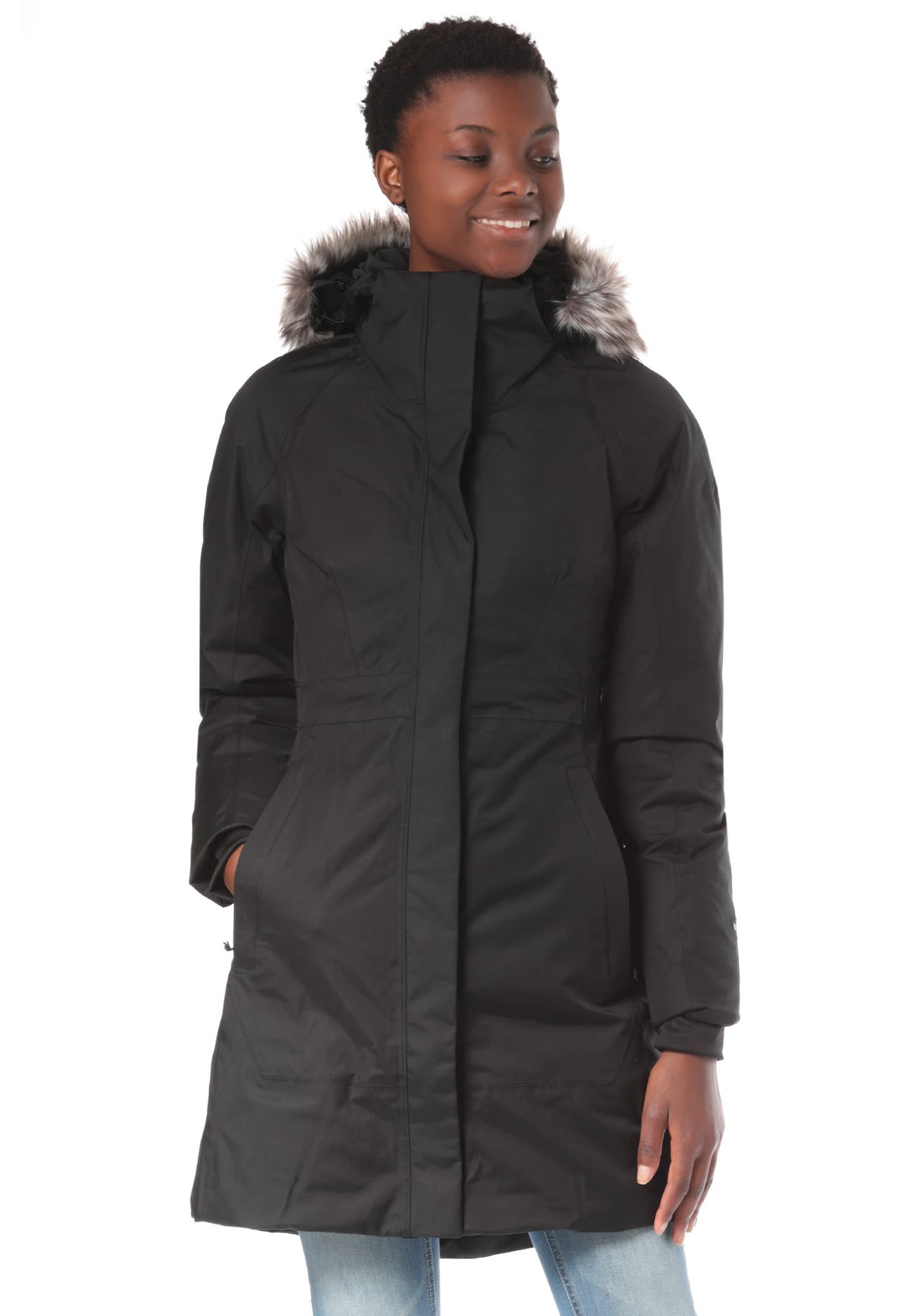 Noir Parka Femme Manteau Ii Face The Pour Arctic North Planet xAH8AwOqf