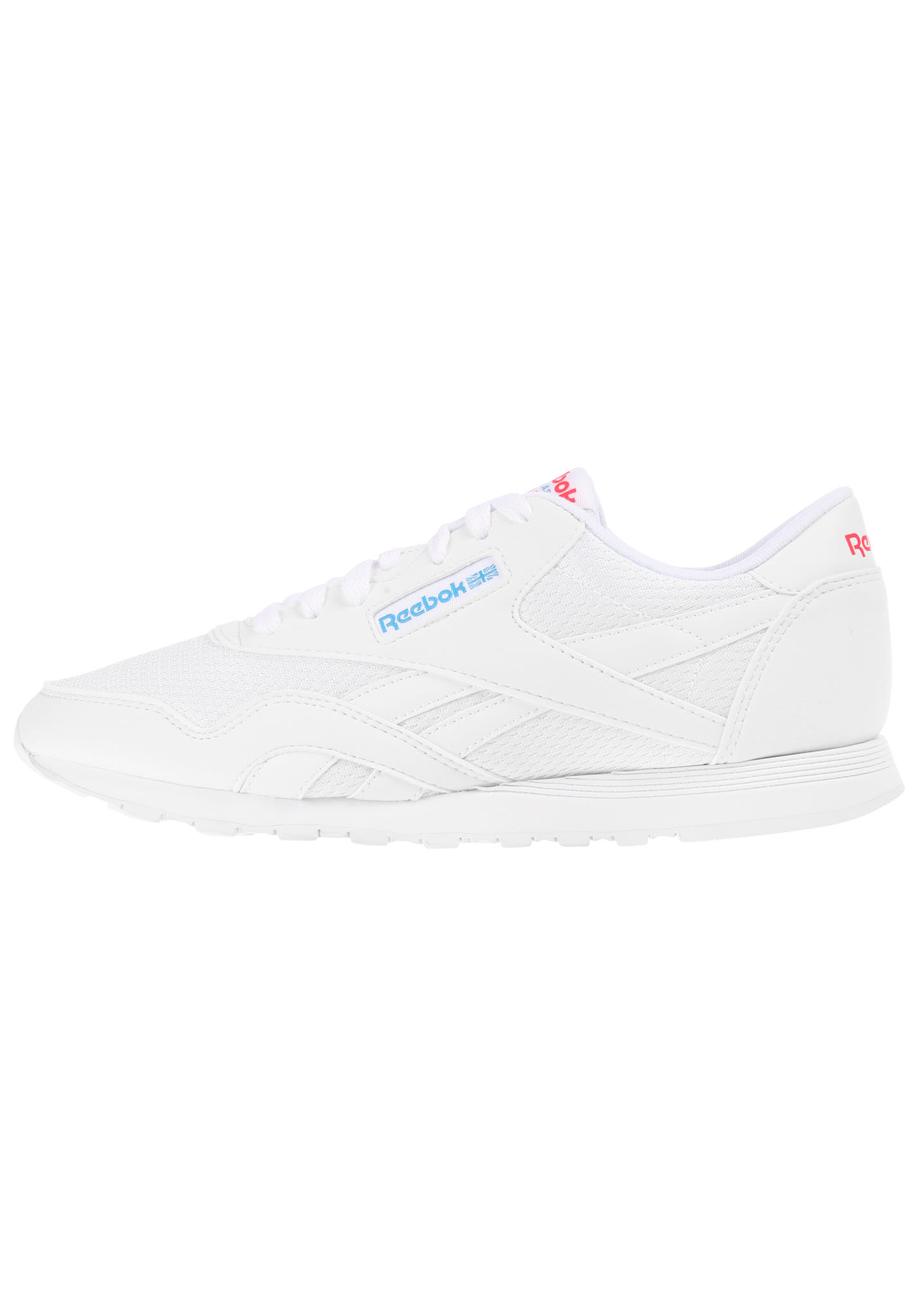 Planet Reebok Sports Dames Text Classic Nylon Sneakers Voor Wit qOFq08rn