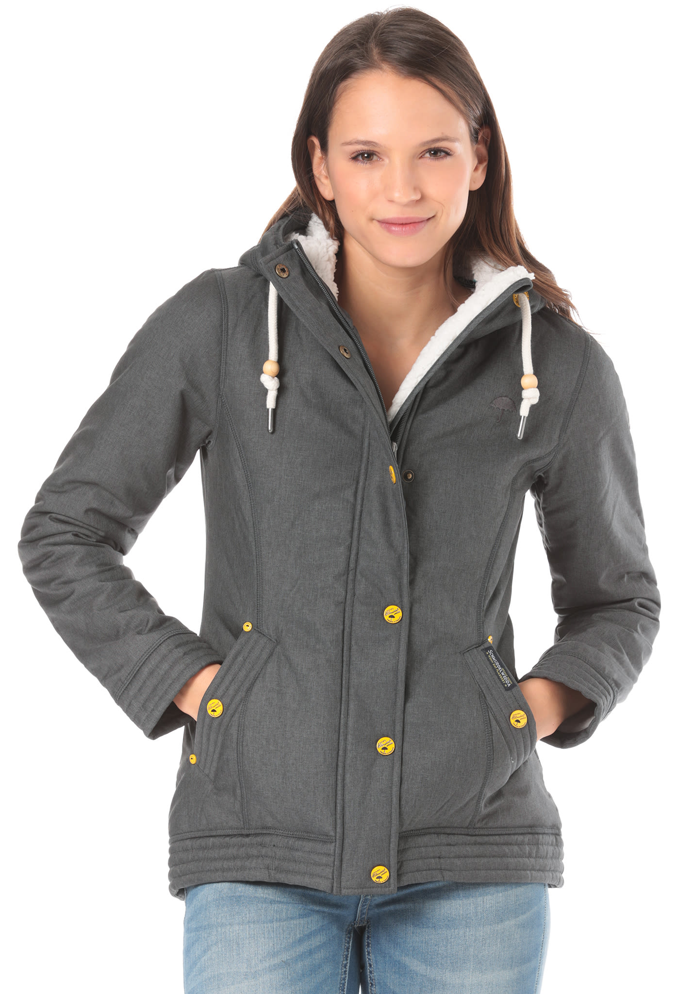 Anorak Schmuddelwedda Functional Grey Women Jacket Softshell For 5TcFKuJl13