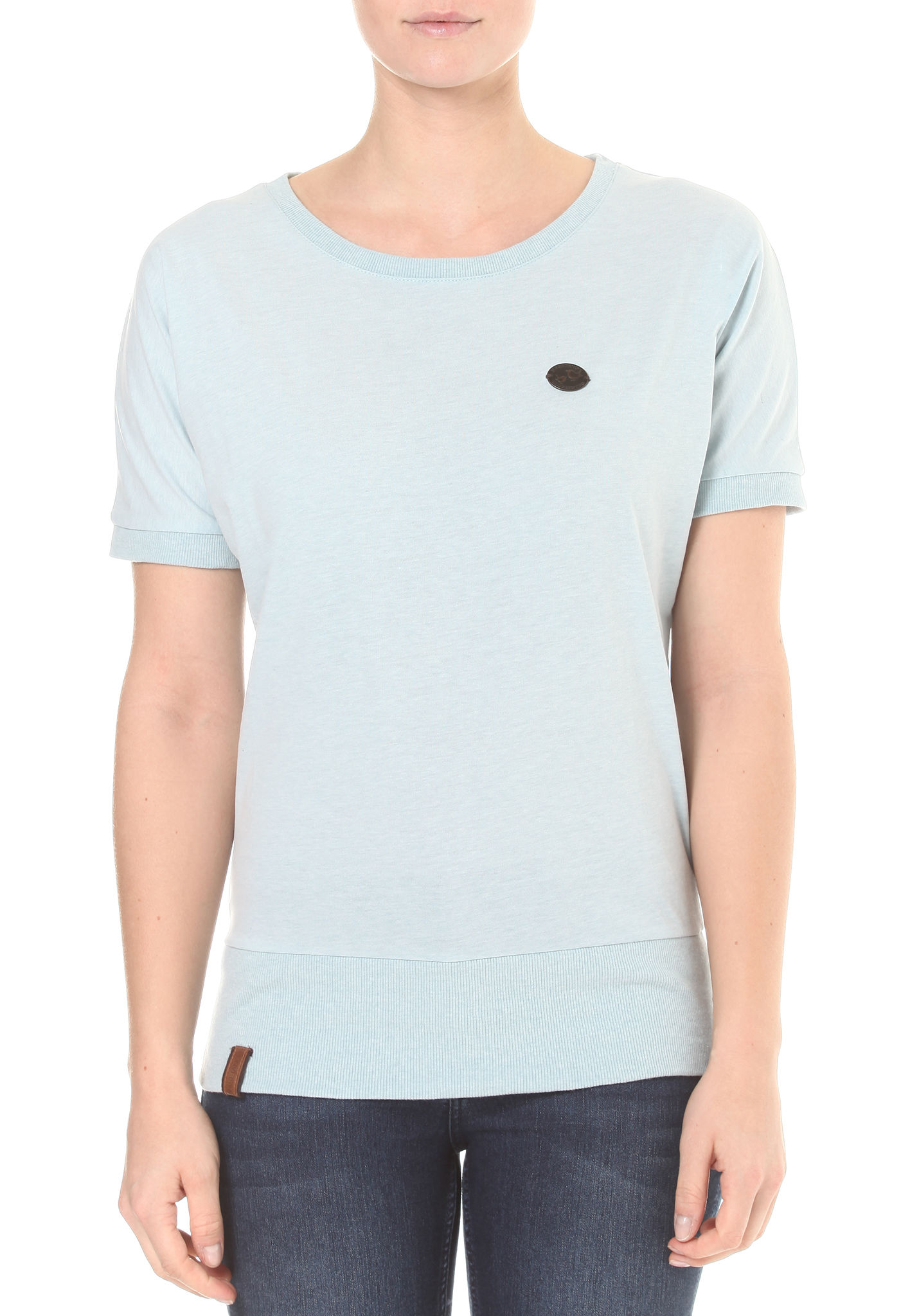 Baunxxx Wit It T-Shirt pastel blue melange Naketano TF2GRqGYf