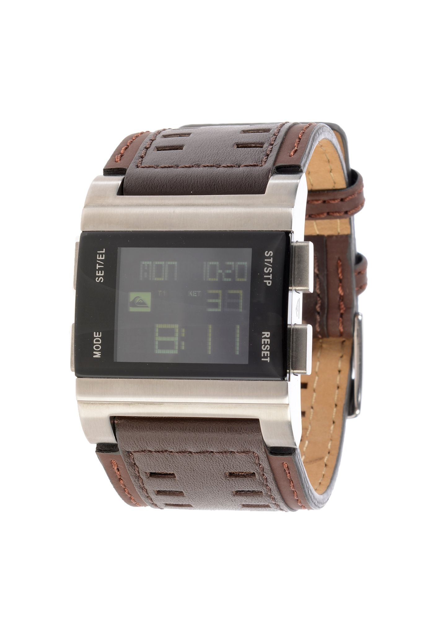quiksilver random watch watch for men brown planet sports