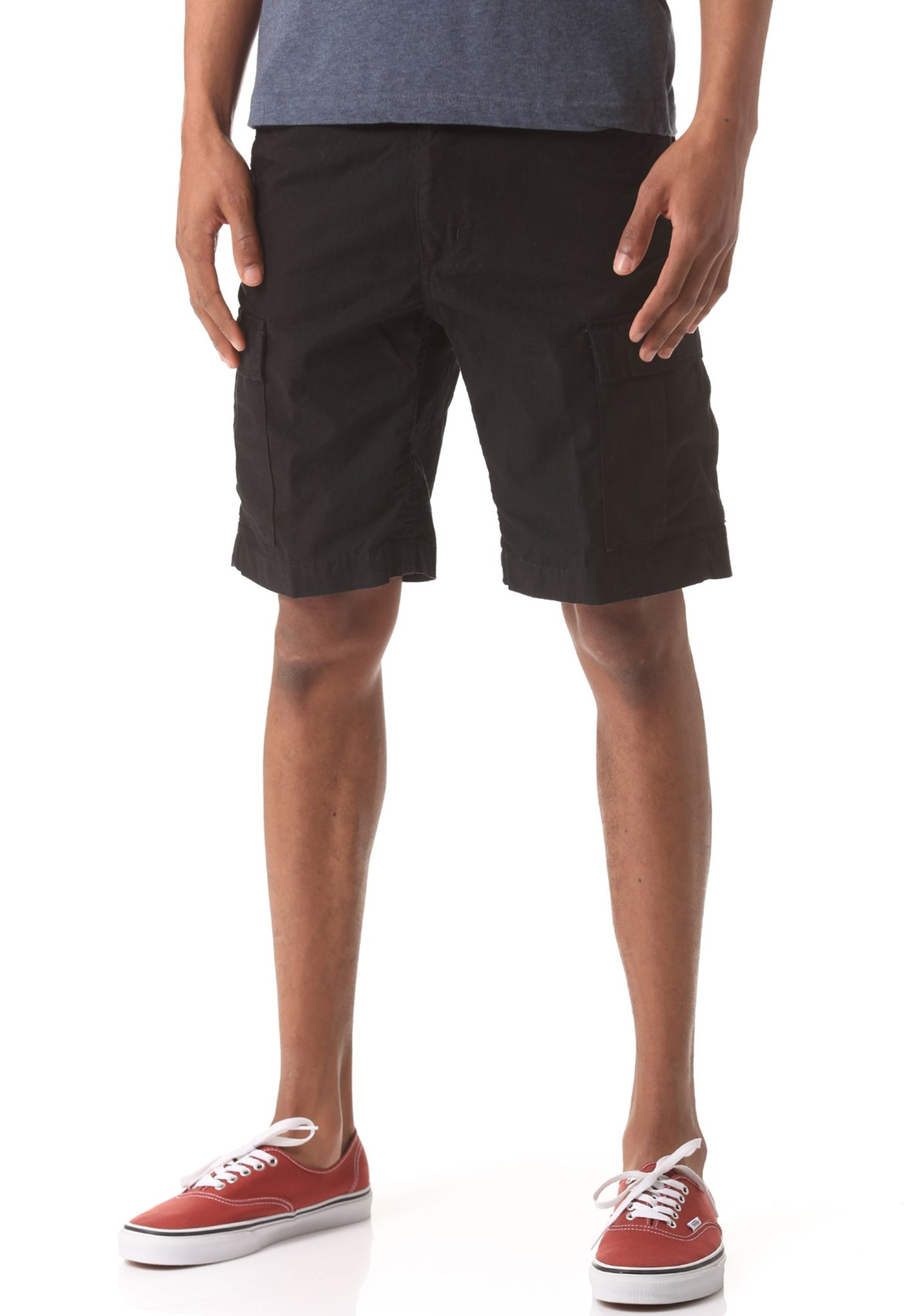 a62d6a4dca carhartt WIP Aviation Bermuda Cotton Columbia Ripstop - Cargo Shorts for Men  - Black - Planet Sports