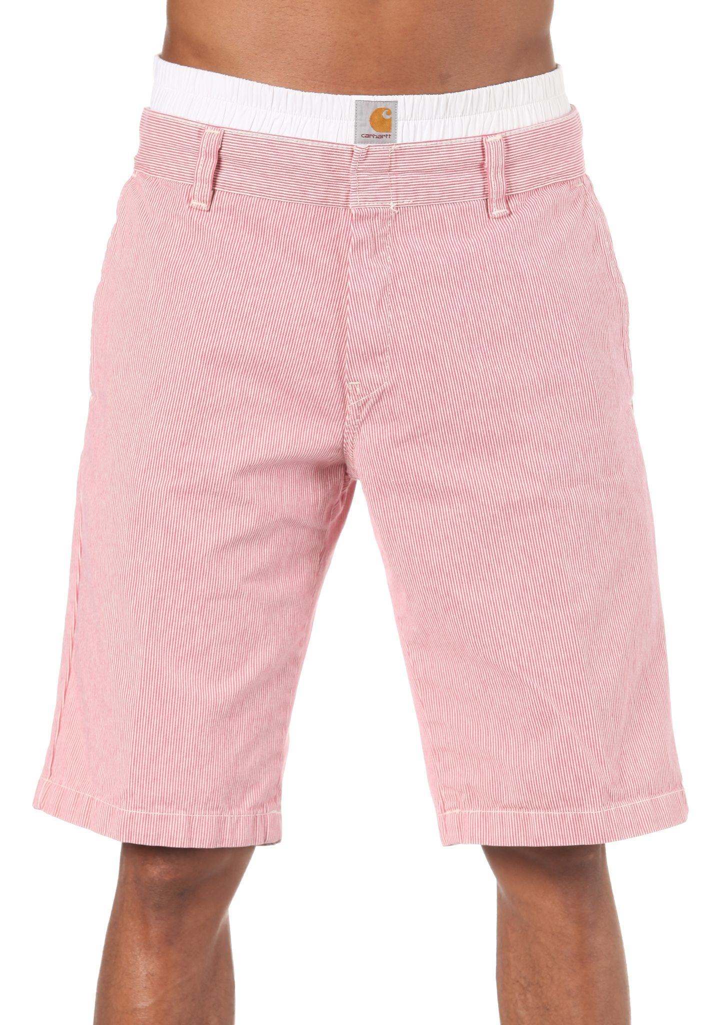carhartt WIP Unit Bermuda Shorts Yazoo Stripe Shorts for Men Red Planet Sports