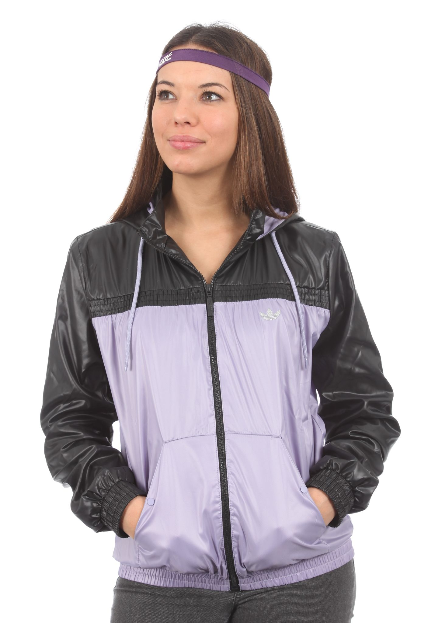 purple adidas windbreaker