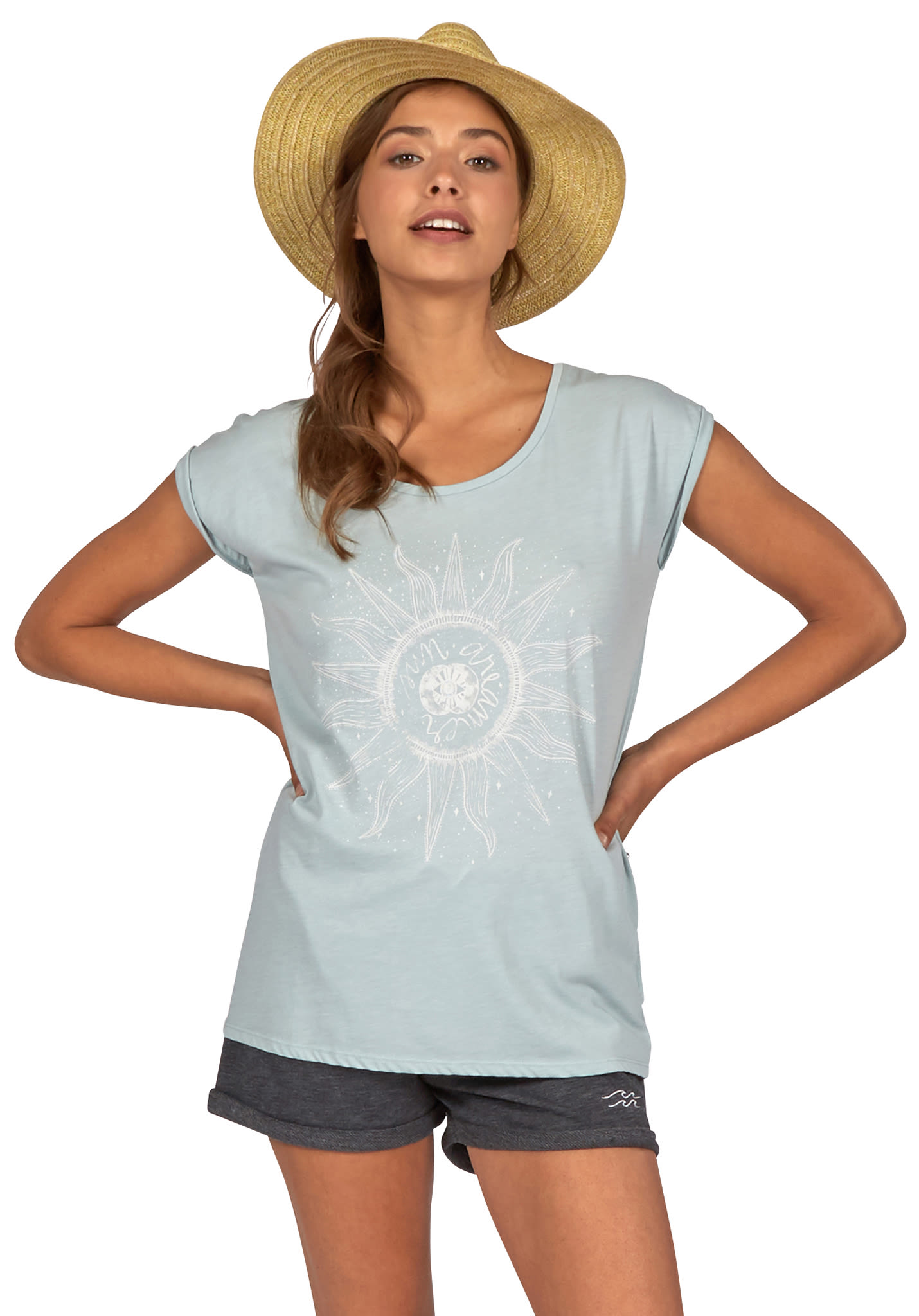 fc8899436 BILLABONG All Night - T-Shirt for Women - Blue - Planet Sports