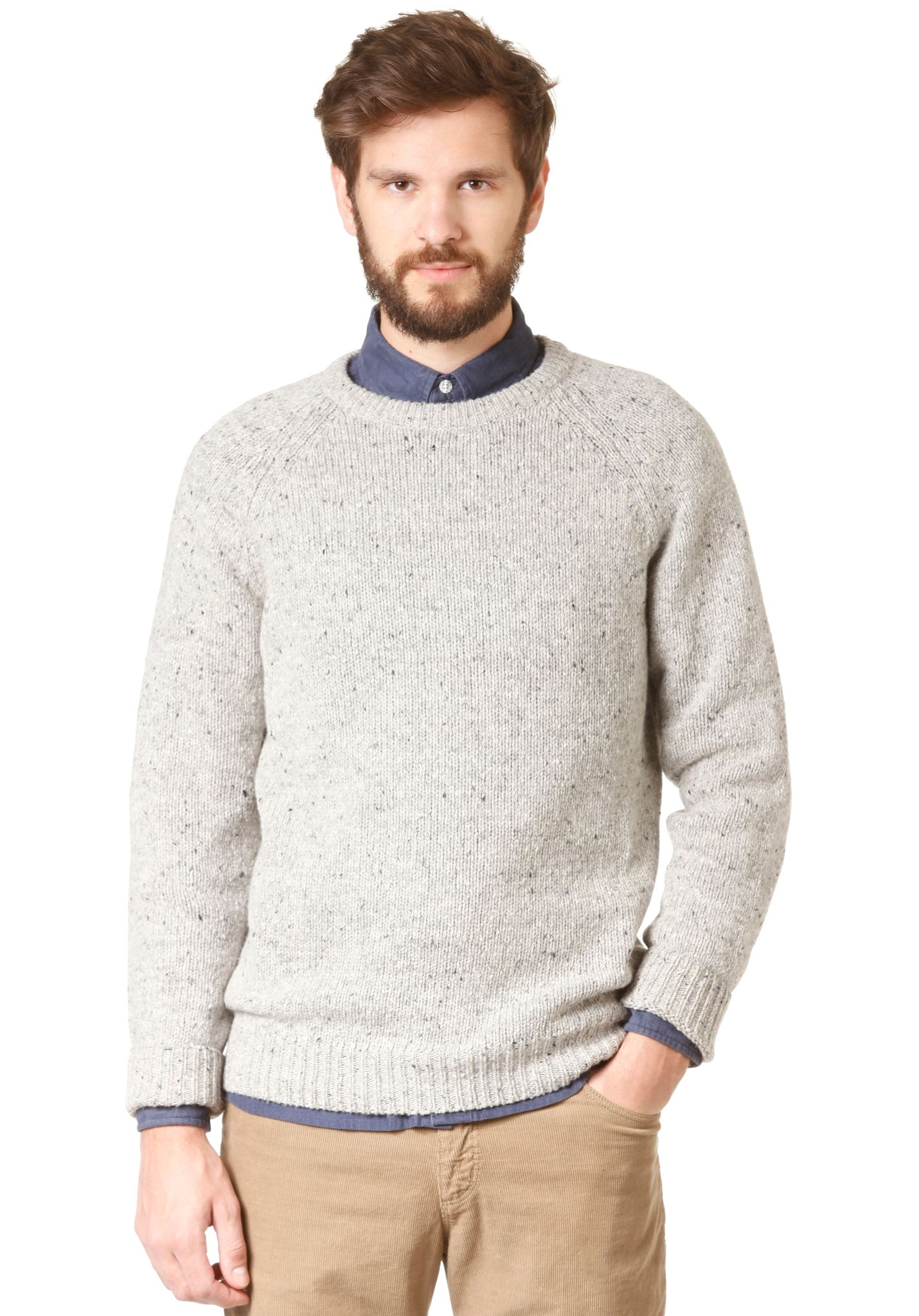 6a283f2b53e carhartt WIP Anglistic - Knitted Pullover - Grey - Planet Sports