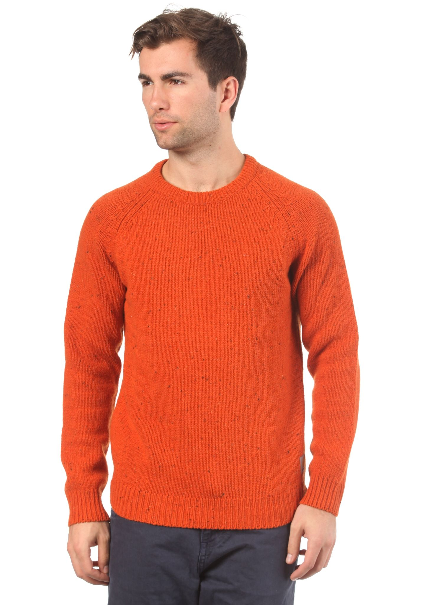 5d1b4dc3e87 carhartt WIP Anglistic - Knitted Pullover - Orange - Planet Sports