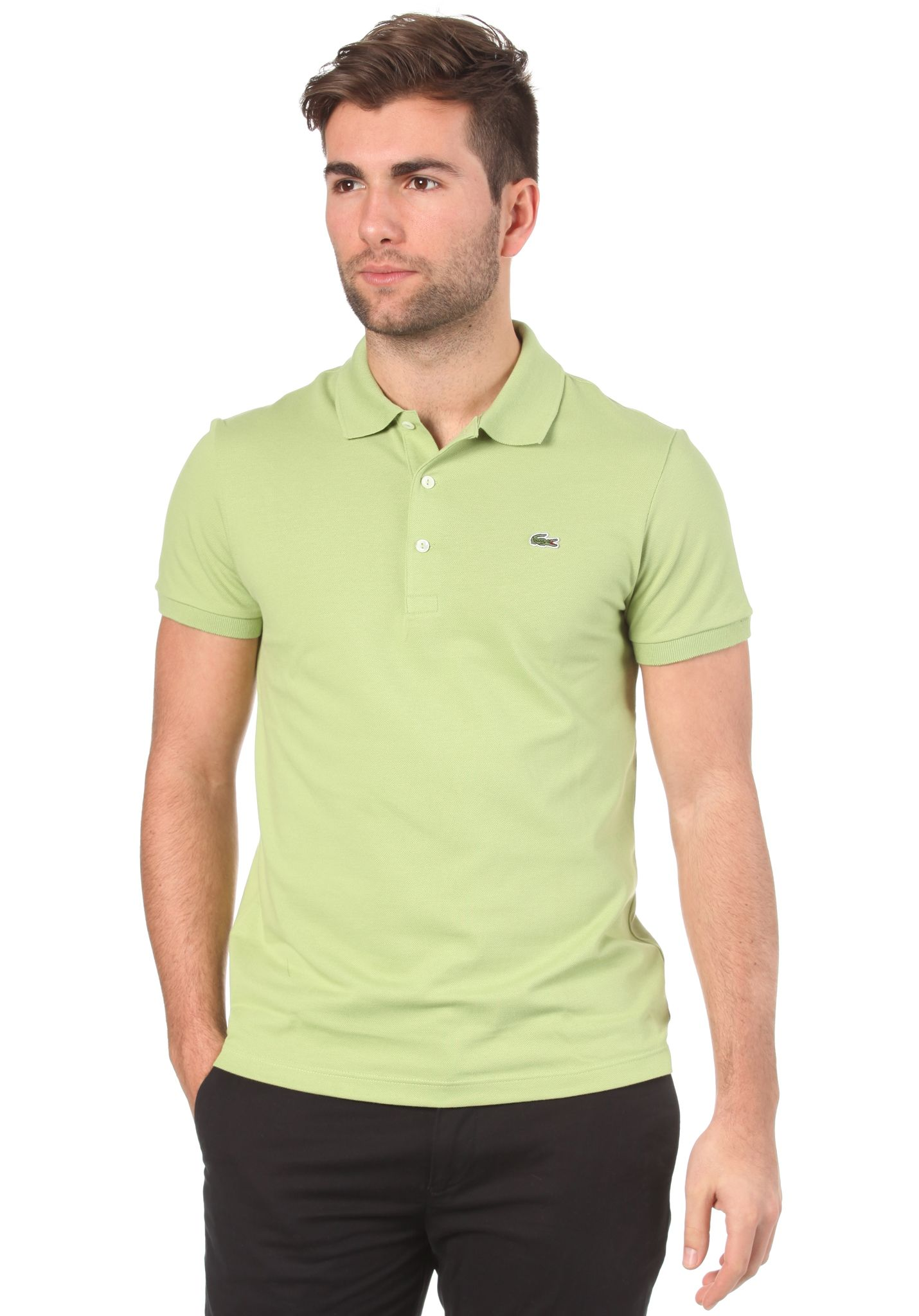 dfc8c4ac0551a Lacoste Live Slim Fit S S Polo Shirt - Polo para Hombres - Verde - Planet  Sports