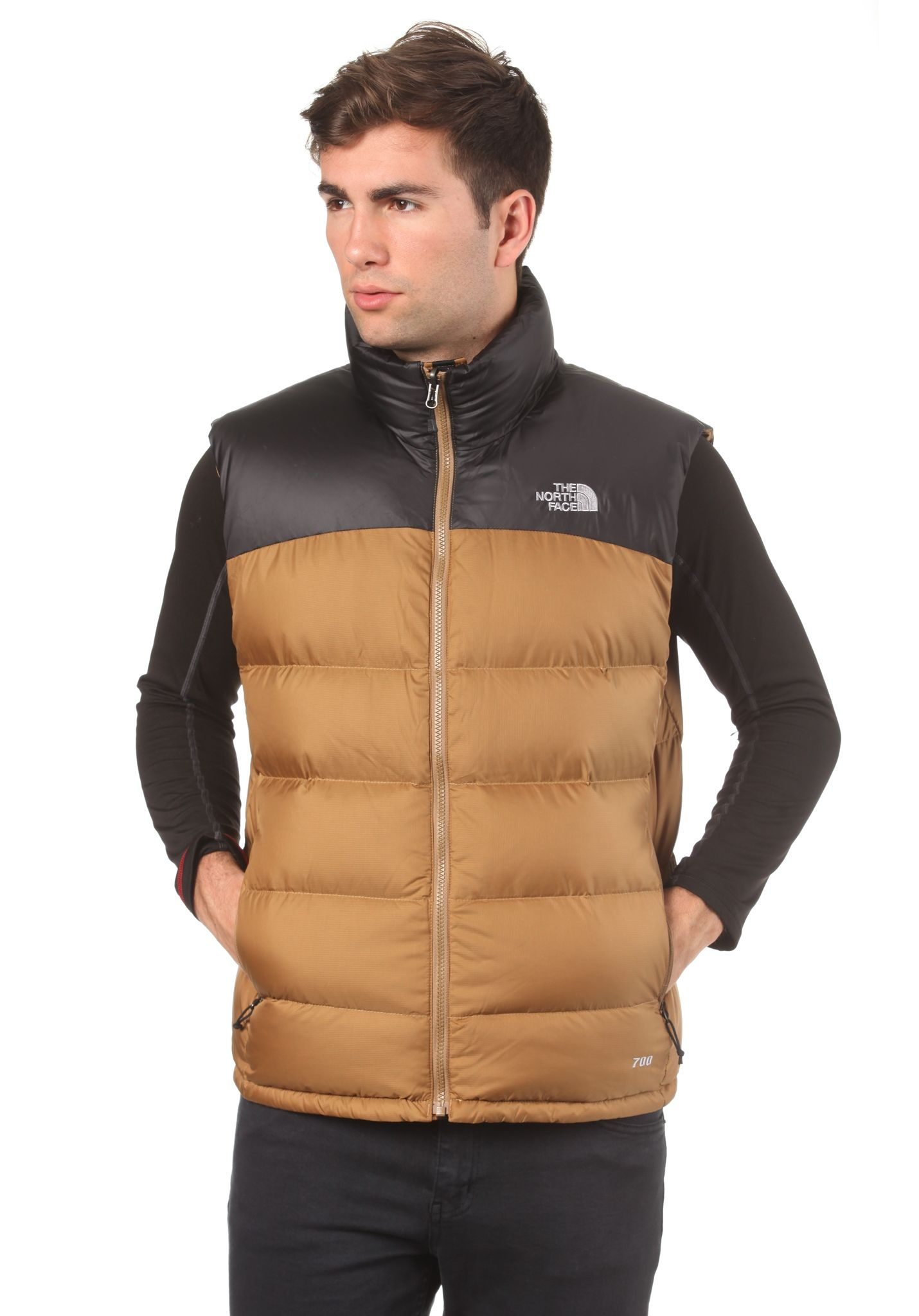a201bad1a1 THE NORTH FACE Nuptse 2 - Outdoor Vest for Men - Brown - Planet Sports