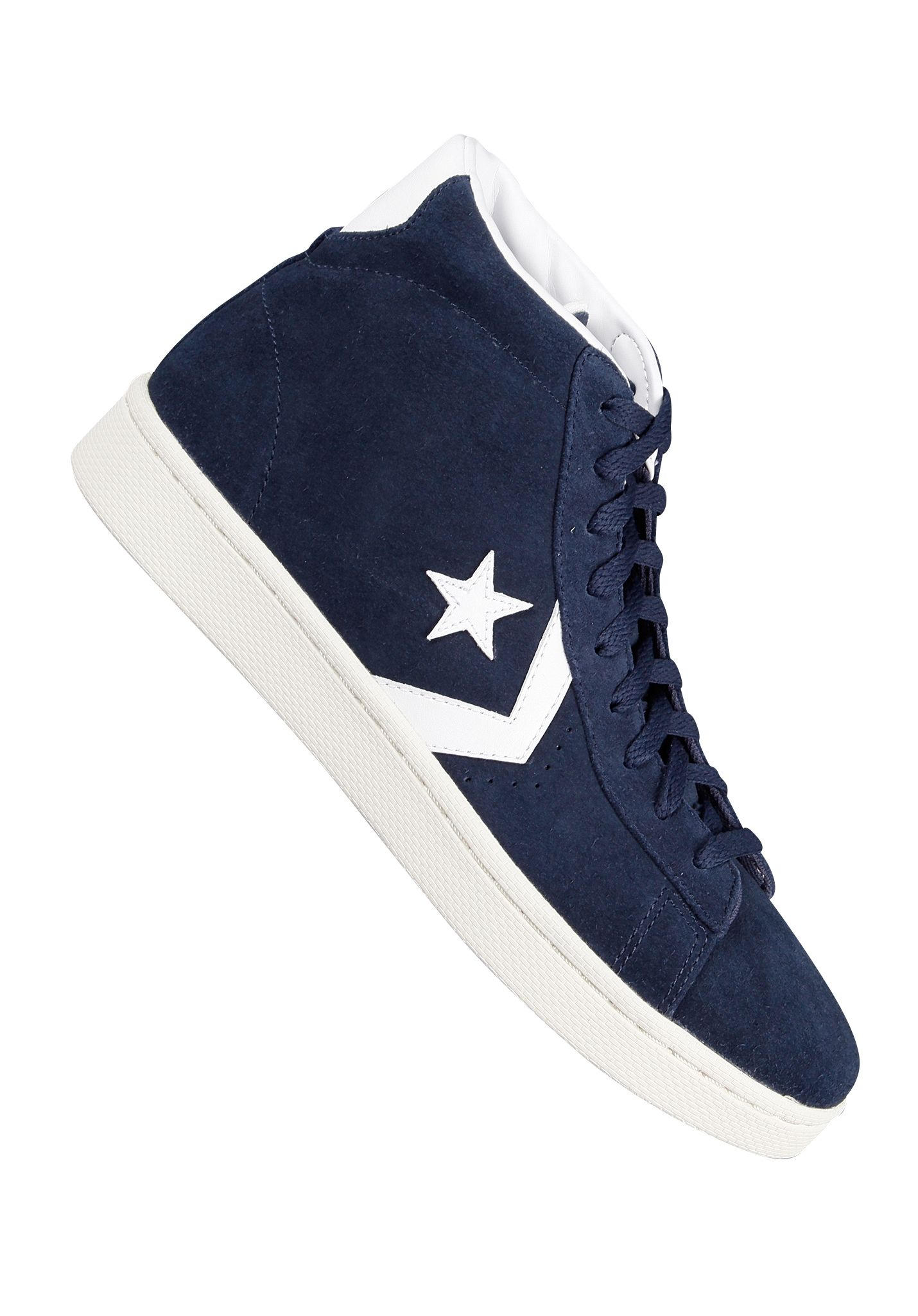 1137f46157629f Converse Pro Leather Mid Suede - Sneakers for Men - Blue - Planet Sports