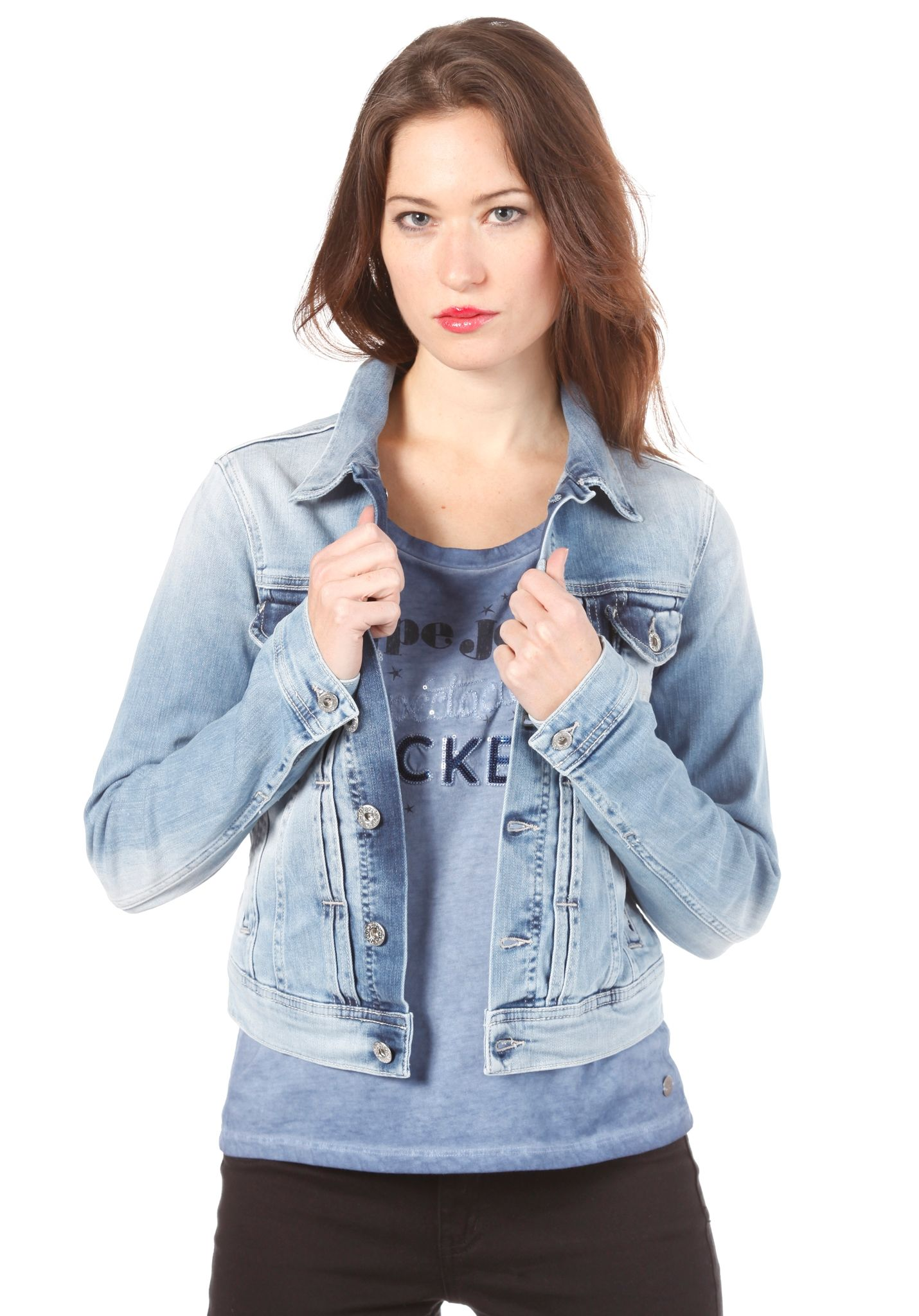 478d5a5daf PEPE JEANS Mikas jacket - Jacket for Women - Blue - Planet Sports