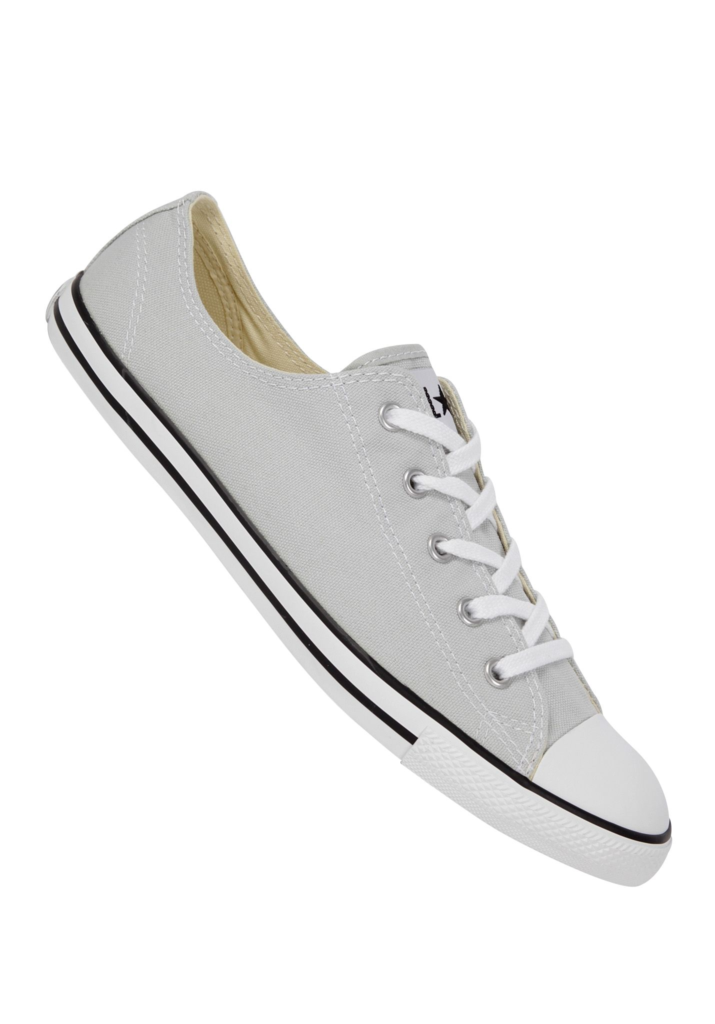 5fe301c85c2534 Converse Chuck Taylor All Star Dainty Basic Ox Canvas - Sneakers for Women  - Grey - Planet Sports