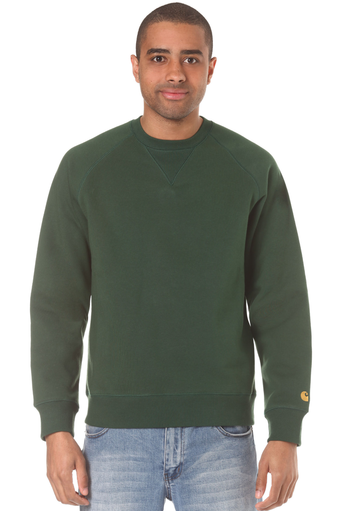 good looking the best attitude size 40 carhartt WIP Chase - Sweatshirt for Men - Green