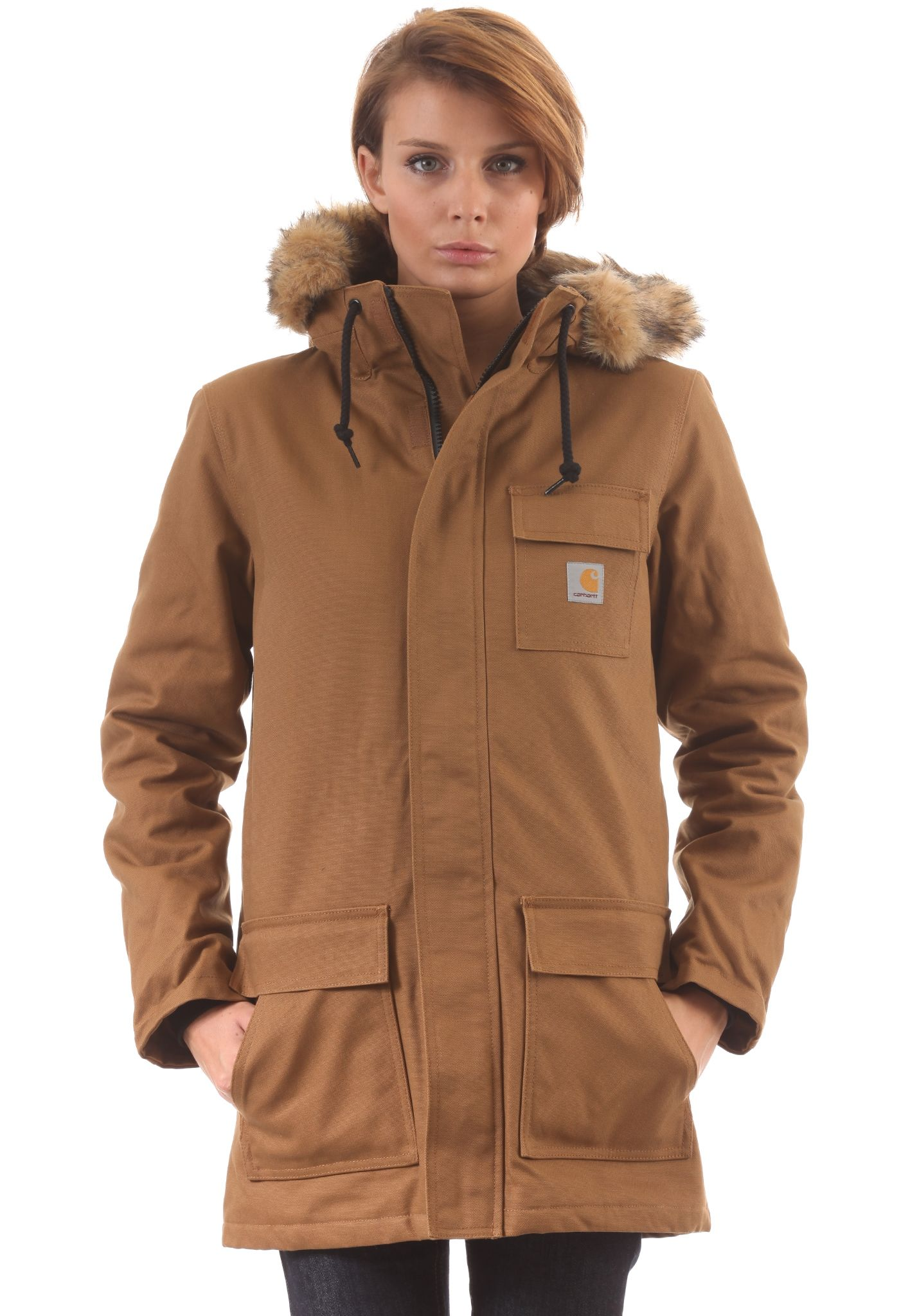 carhartt WIP X  Siberian Parka - Coat for Women - Brown - Planet Sports 257dce5c17