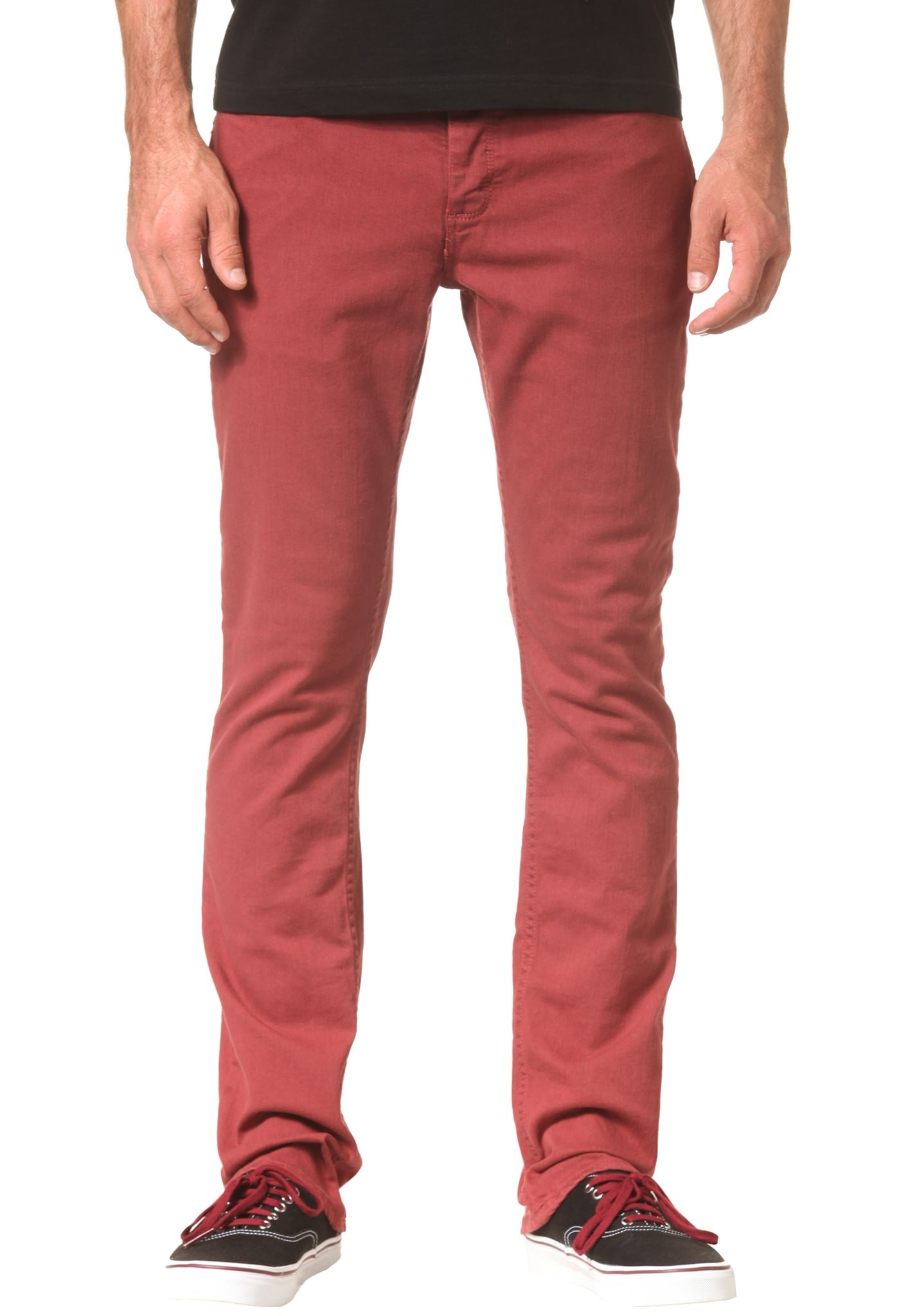 fa2f9bf93690 Vans V76 Skinny - Trousers for Men - Red - Planet Sports
