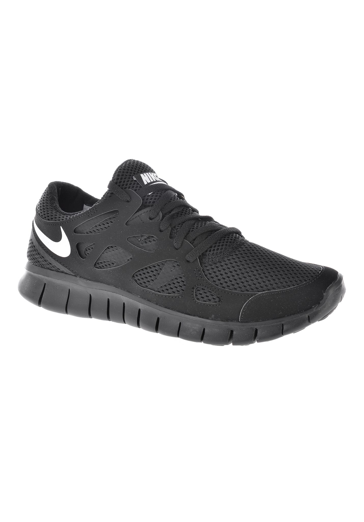 Cheap Nike Free RN Flyknit Men's Running Shoes Black/White