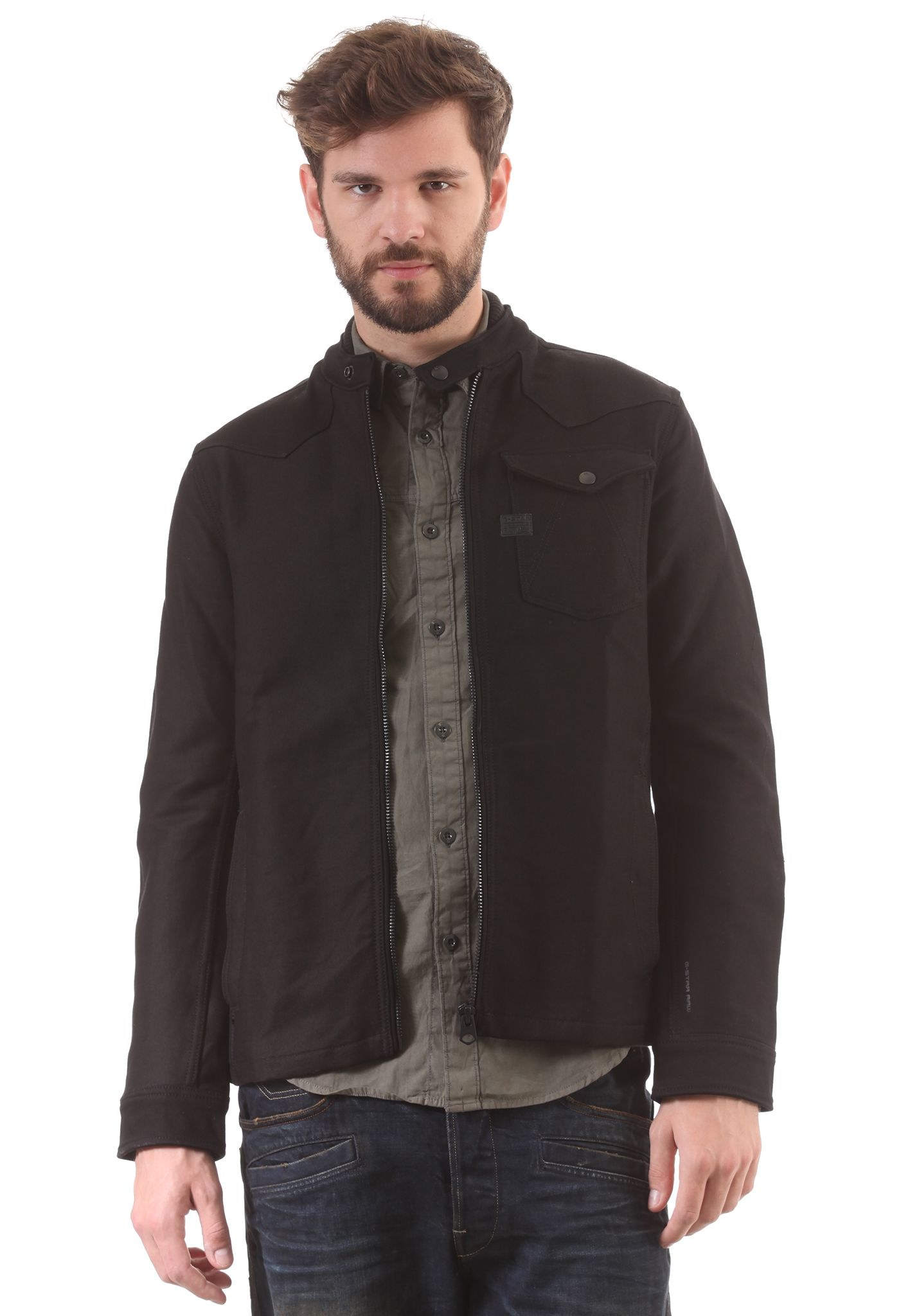 b0285296843 G-STAR A Crotch Pt Zip Overshirt - Chaqueta para Hombres - Negro - Planet  Sports
