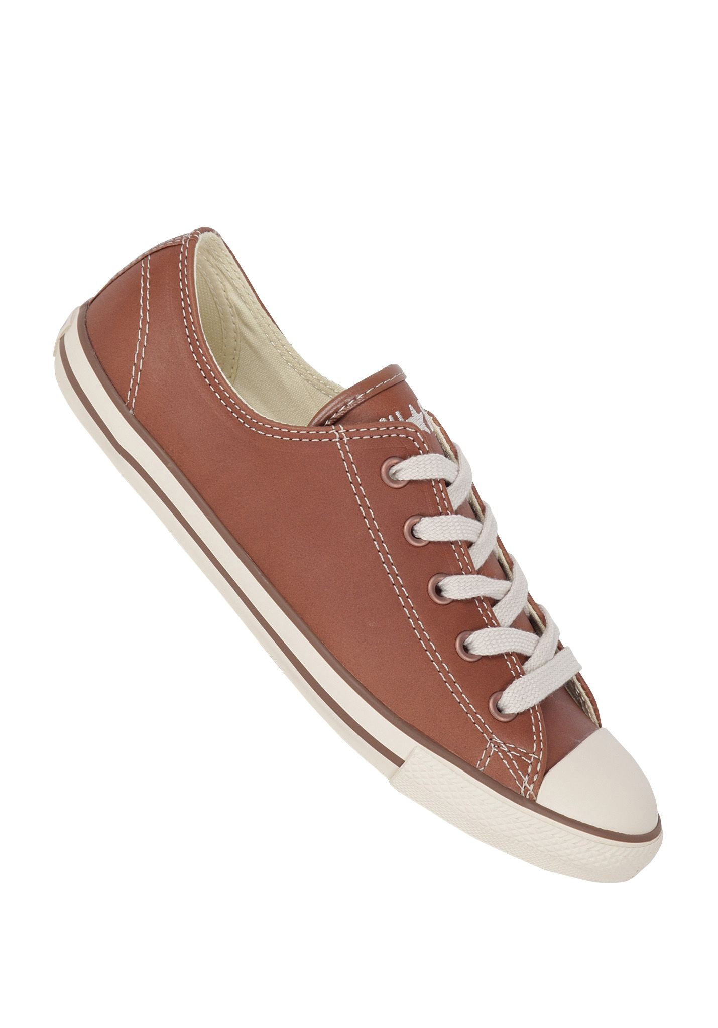 Converse Chuck Taylor All Star Dainty Ox Leather - Sneakers for Women -  Brown - Planet Sports 807e027b5f