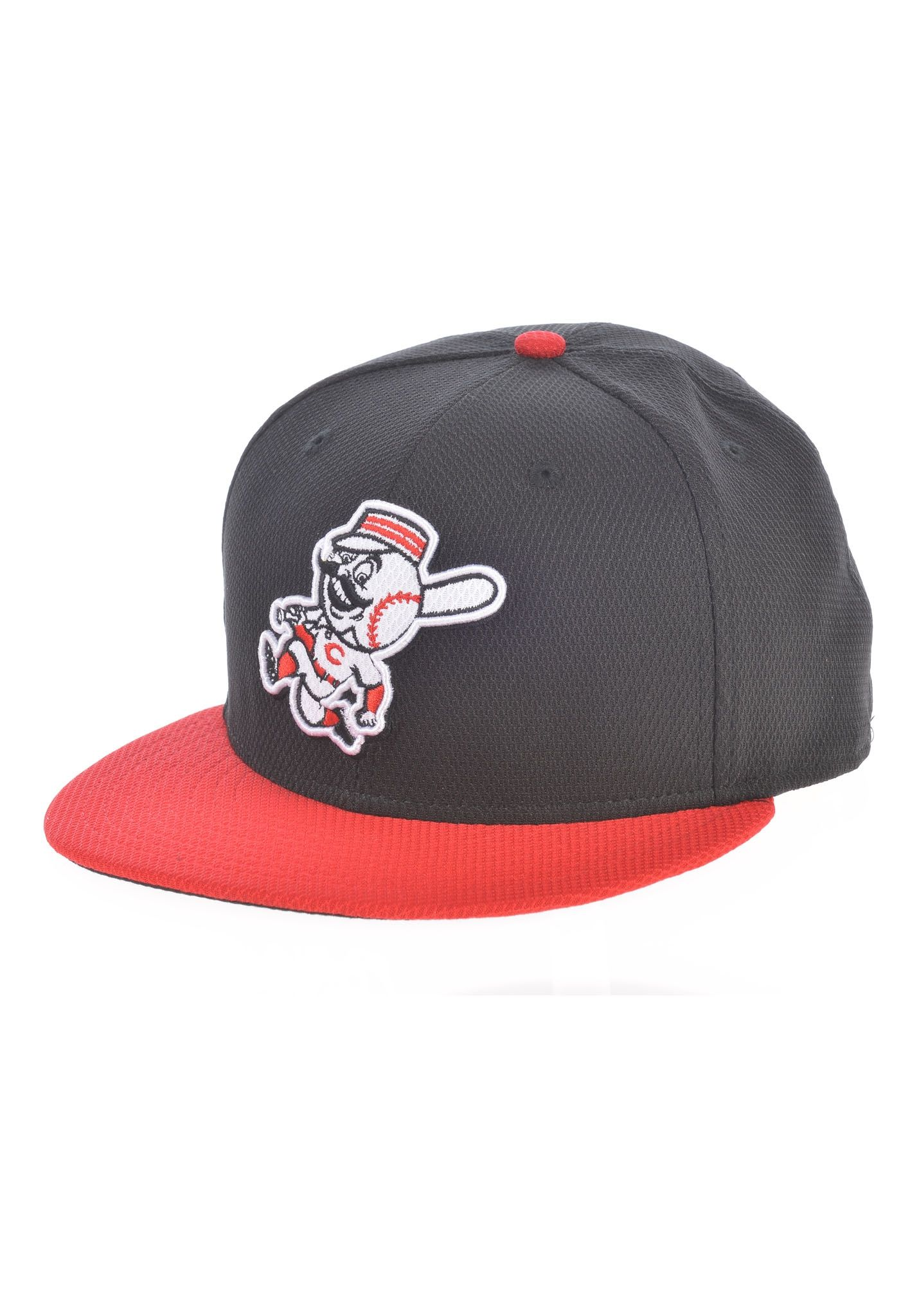 35d675d8 NEW Era Diamond Era Cincinnati Reds Fitted - Fitted Cap for Men - Black -  Planet Sports