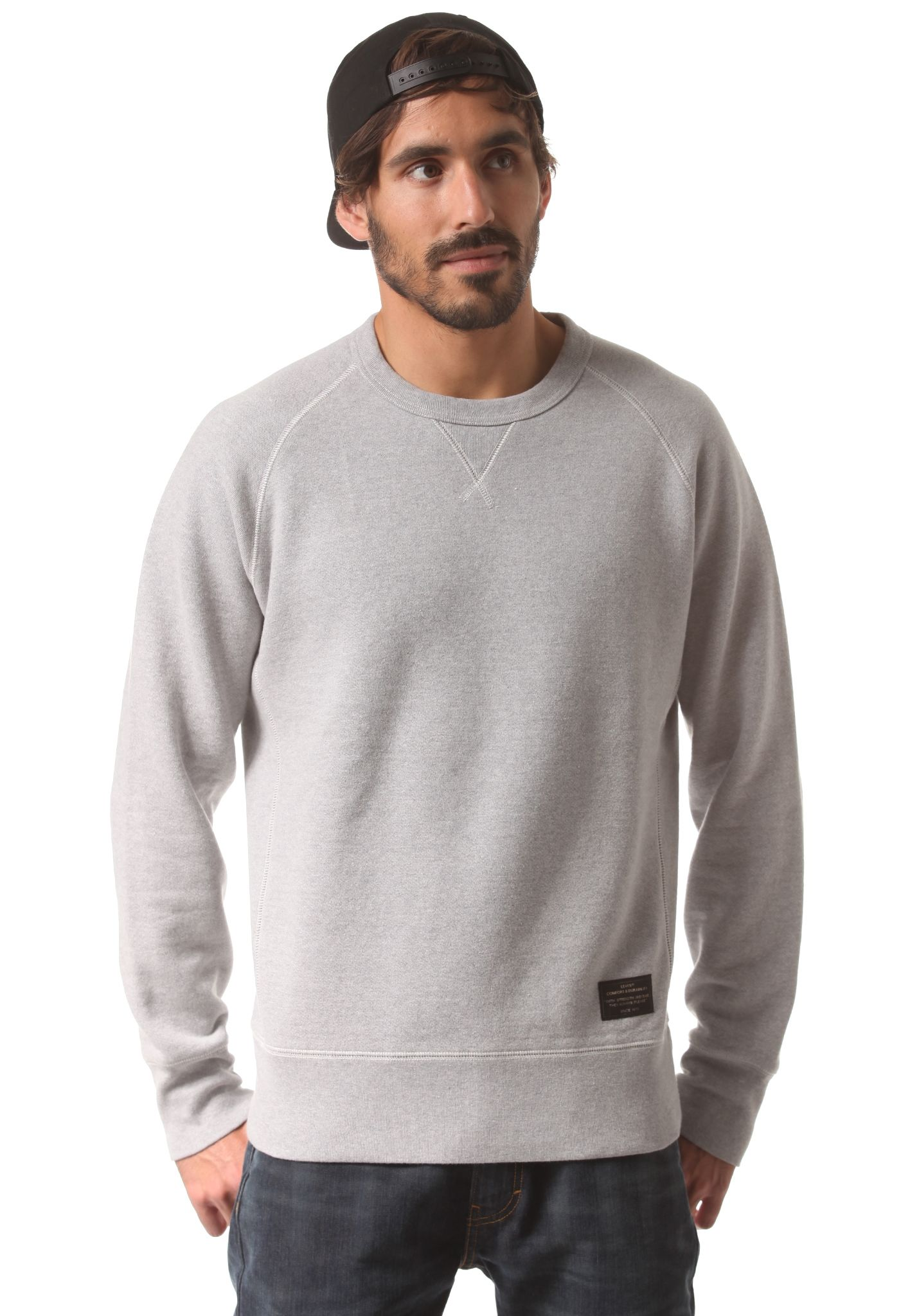 Levi's Skate Crewneck Fleece - Sweatshirt for Men - Grey - Planet ...