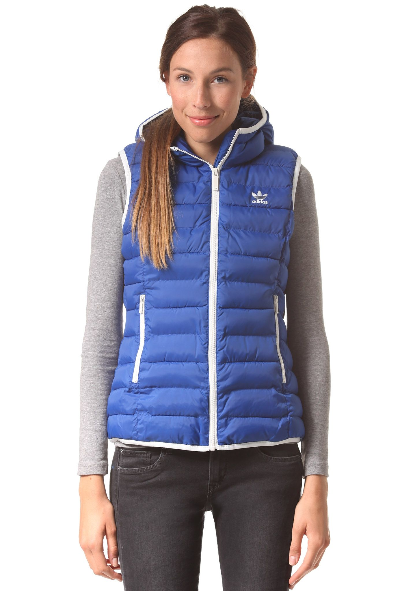 7d9f78c6e114 adidas Originals Slim - Outdoorweste für Damen - Blau - Planet Sports
