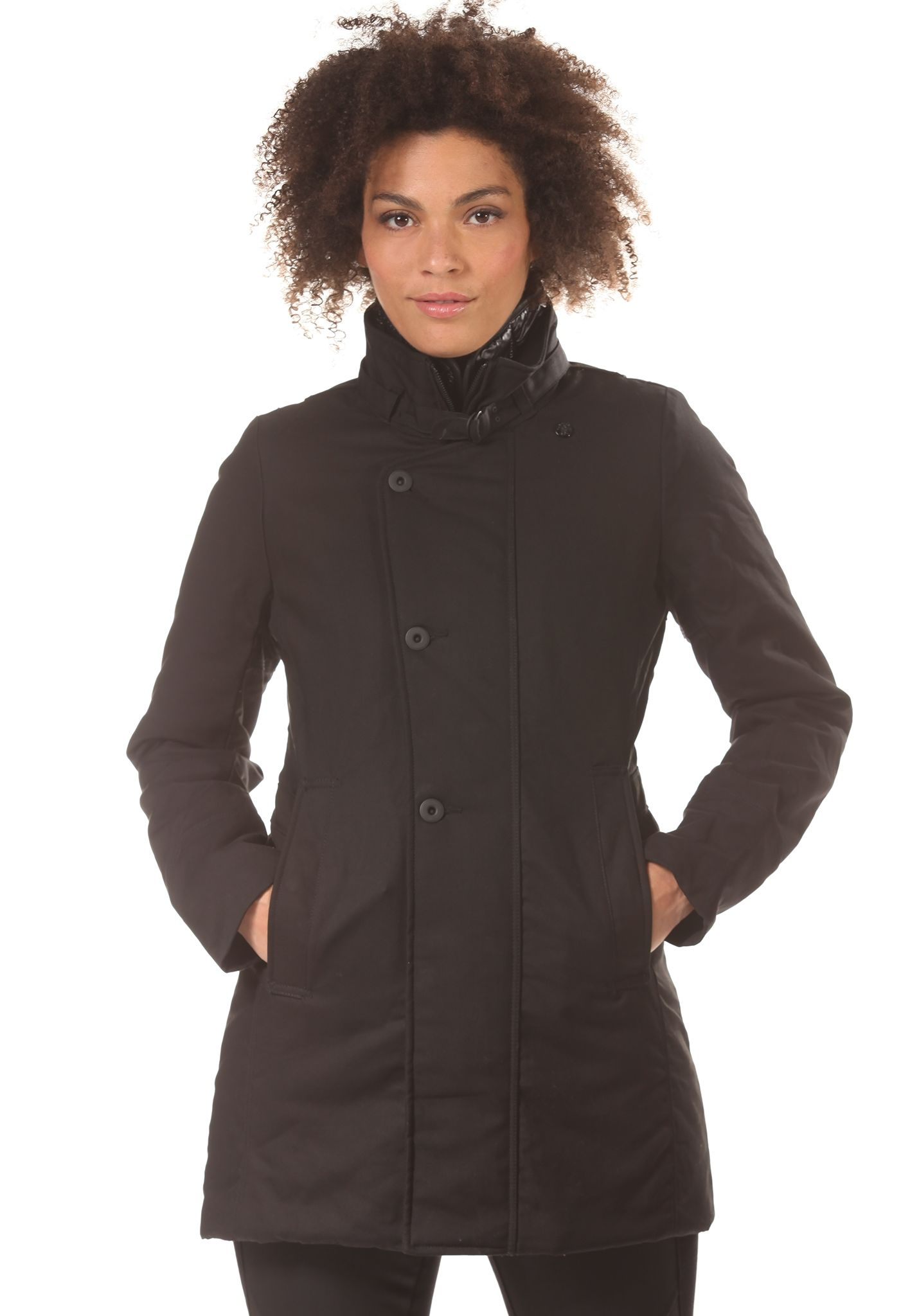 G-STAR Minor Relax Trench - Coat for Women - Black - Planet Sports d97146e52626