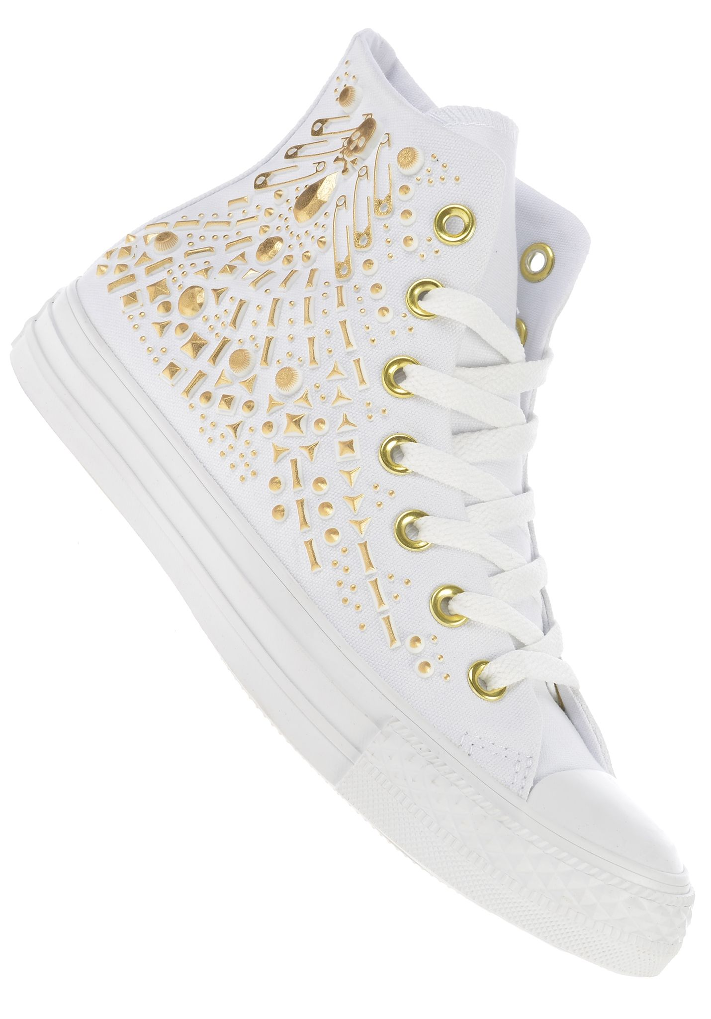 1cef2eb88942 Converse Chuck Taylor All Star Rhinestone Hi Canvas - Sneakers for Women -  White - Planet Sports