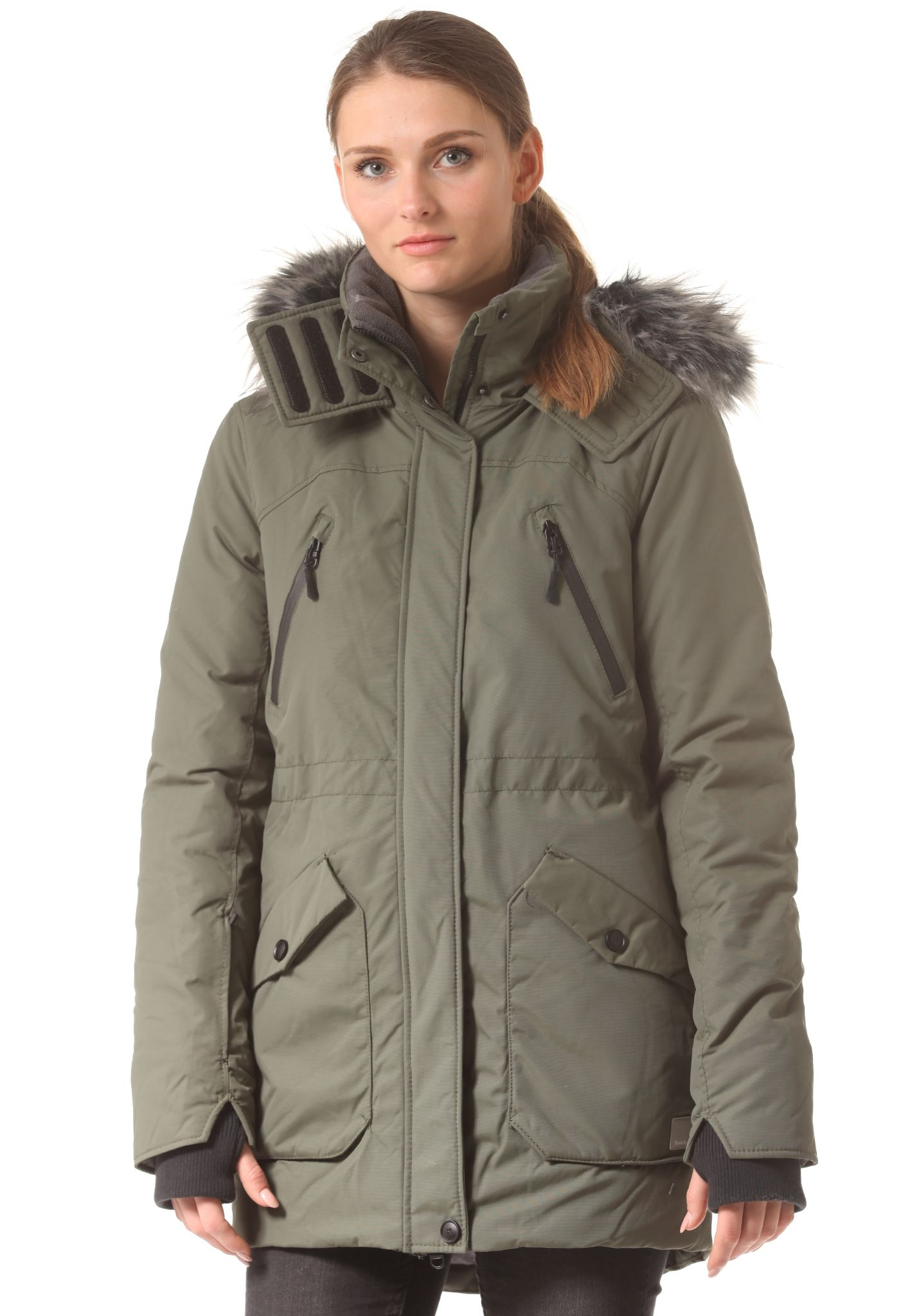 Bench winterjacke damen grun