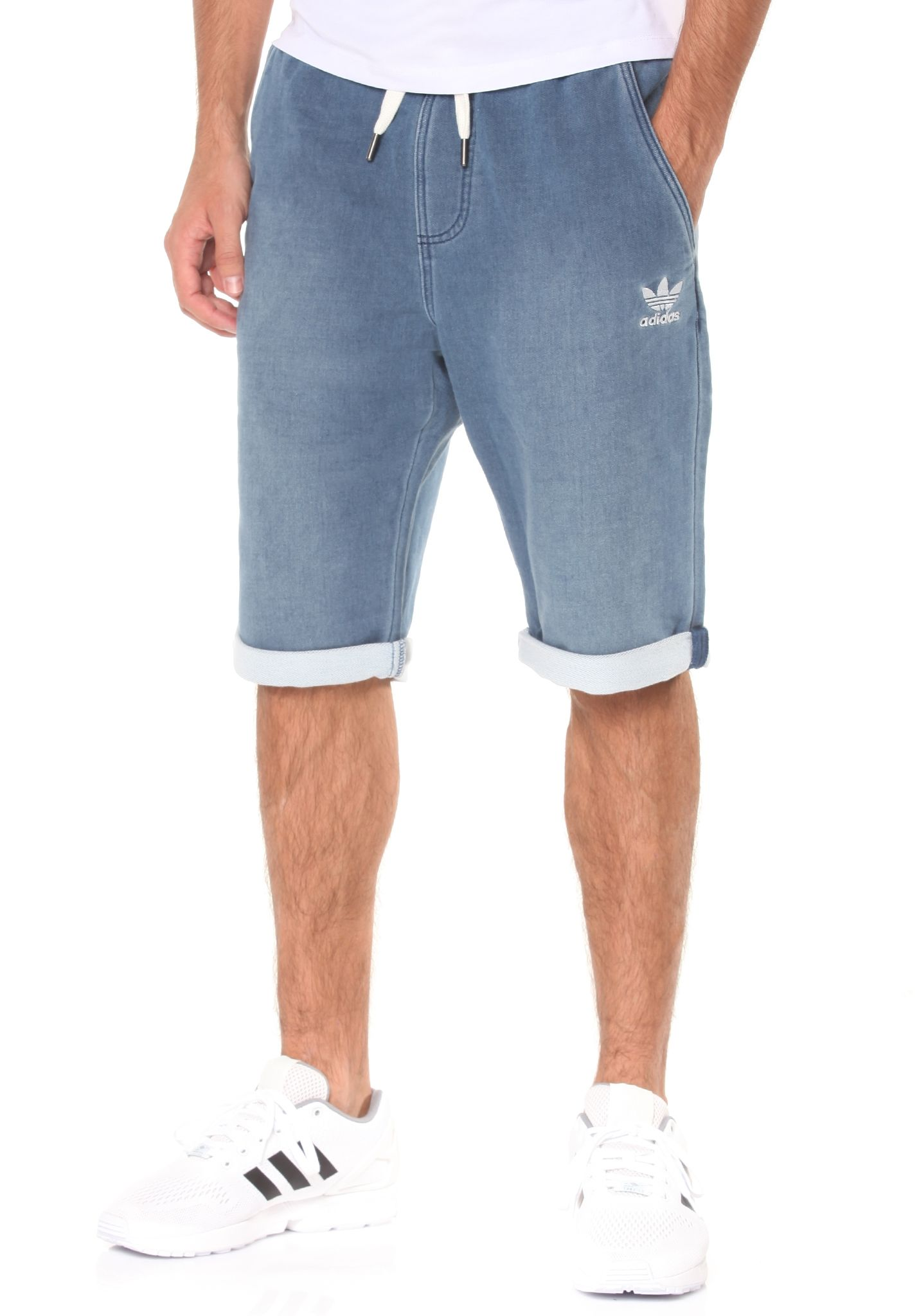 thoughts on various styles best cheap ADIDAS FT Denim - Shorts for Men - Blue