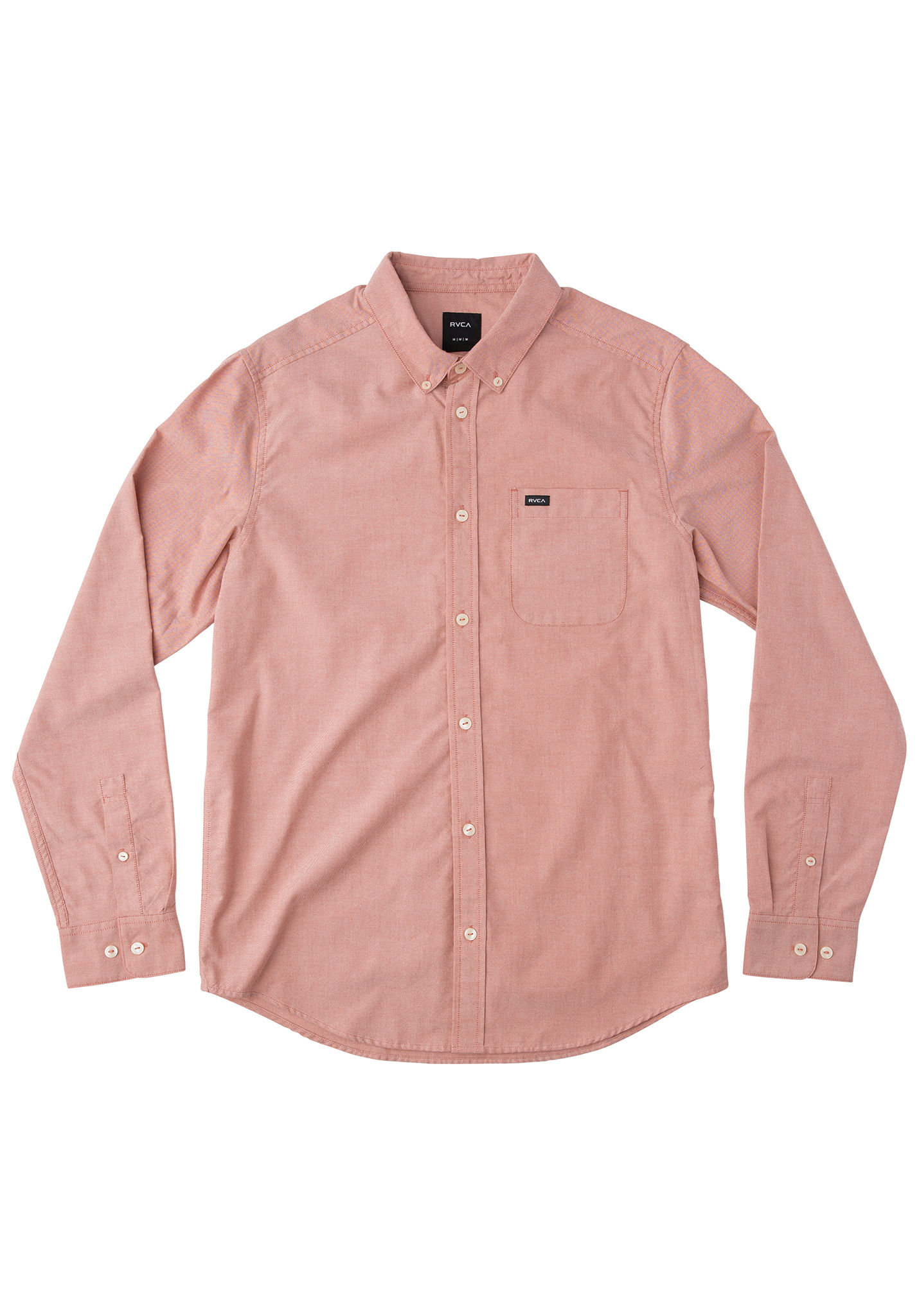 That\'ll Do Oxford L/S Camisa para Hombres Blanco RVCA b4n5QlG ...