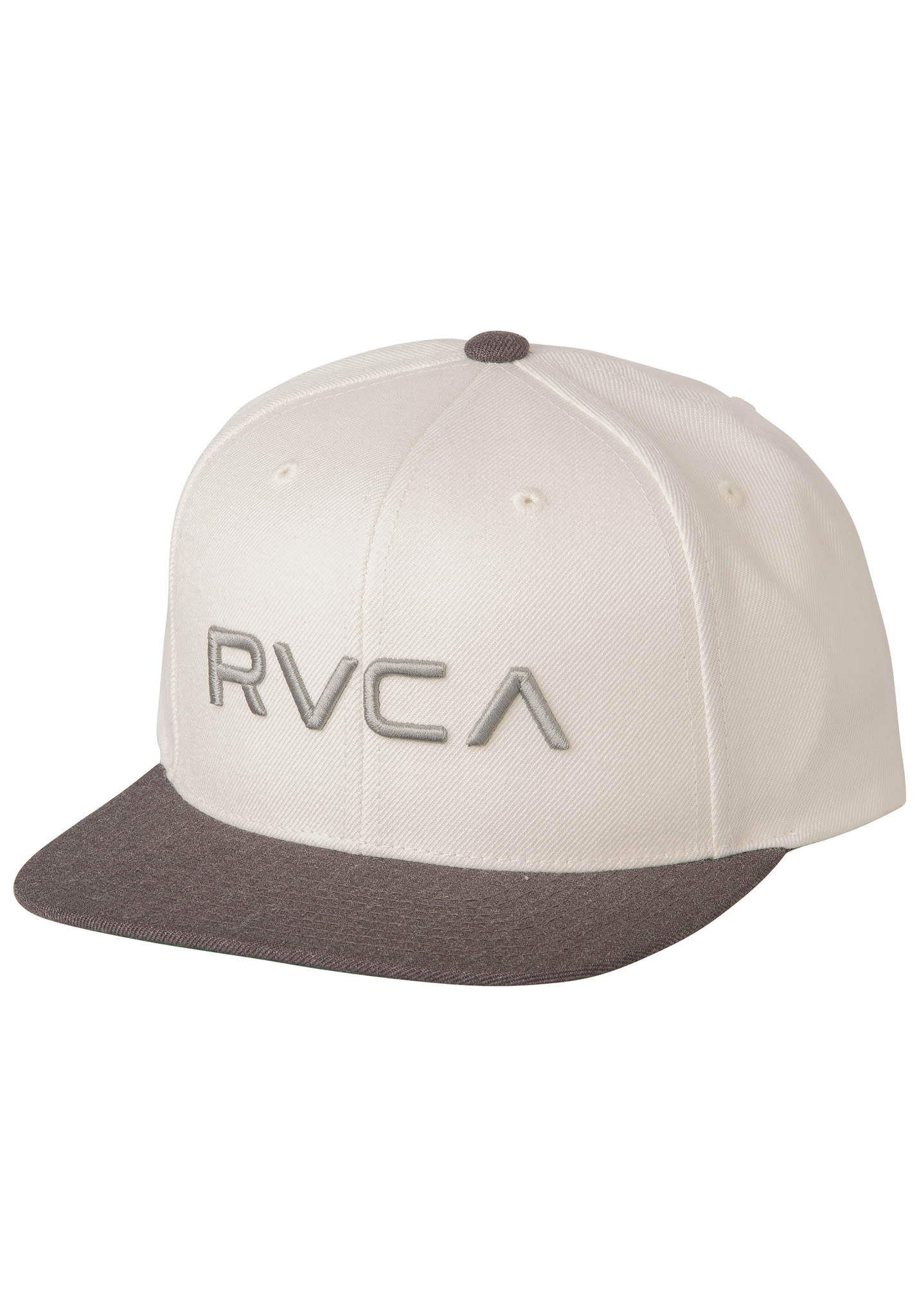 finest selection 65886 5cf58 RVCA Twill III - Snapback Cap for Men - White - Planet Sports