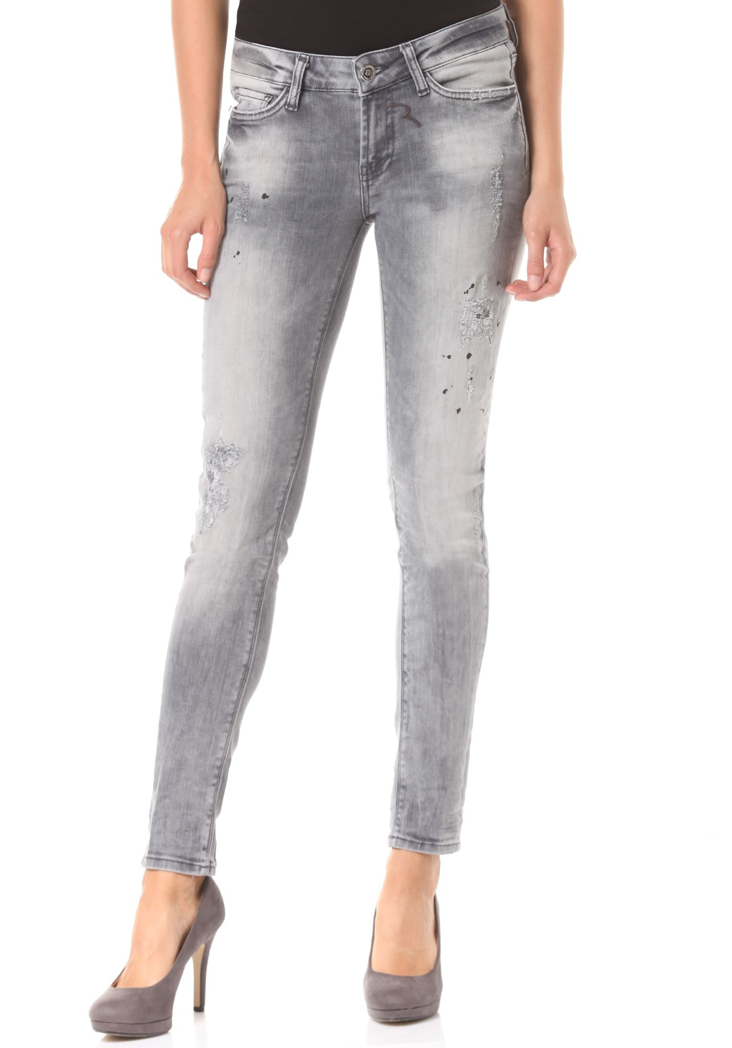 Rich   Royal Super Skinny - Jeans für Damen - Grau - Planet Sports 1c69114ac6