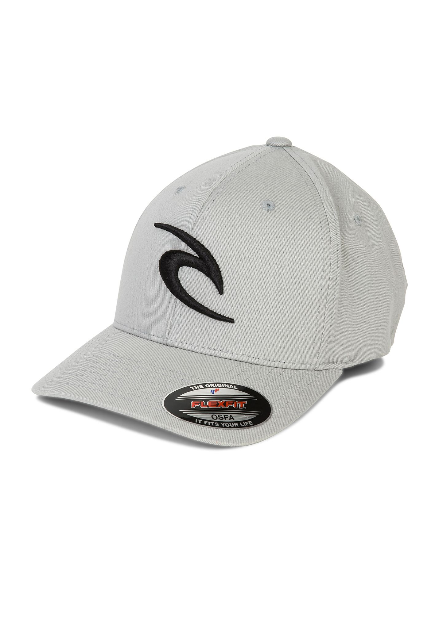 Rip Curl 3D Icon - Flexfit Cap for Men - Grey - Planet Sports 07aba66af1c