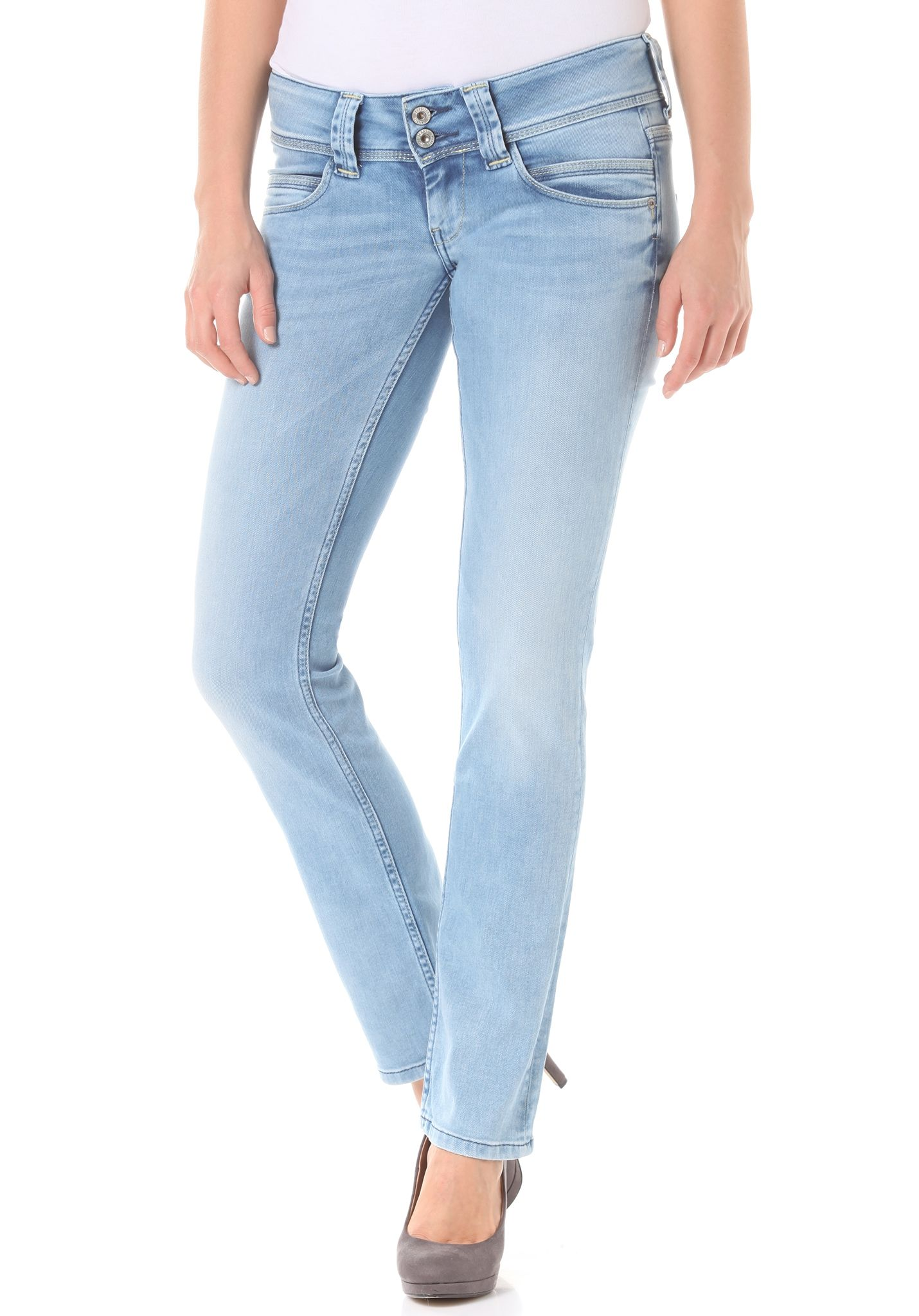 4aac510d7b6 PEPE JEANS Venus - Denim Jeans for Women - Blue - Planet Sports