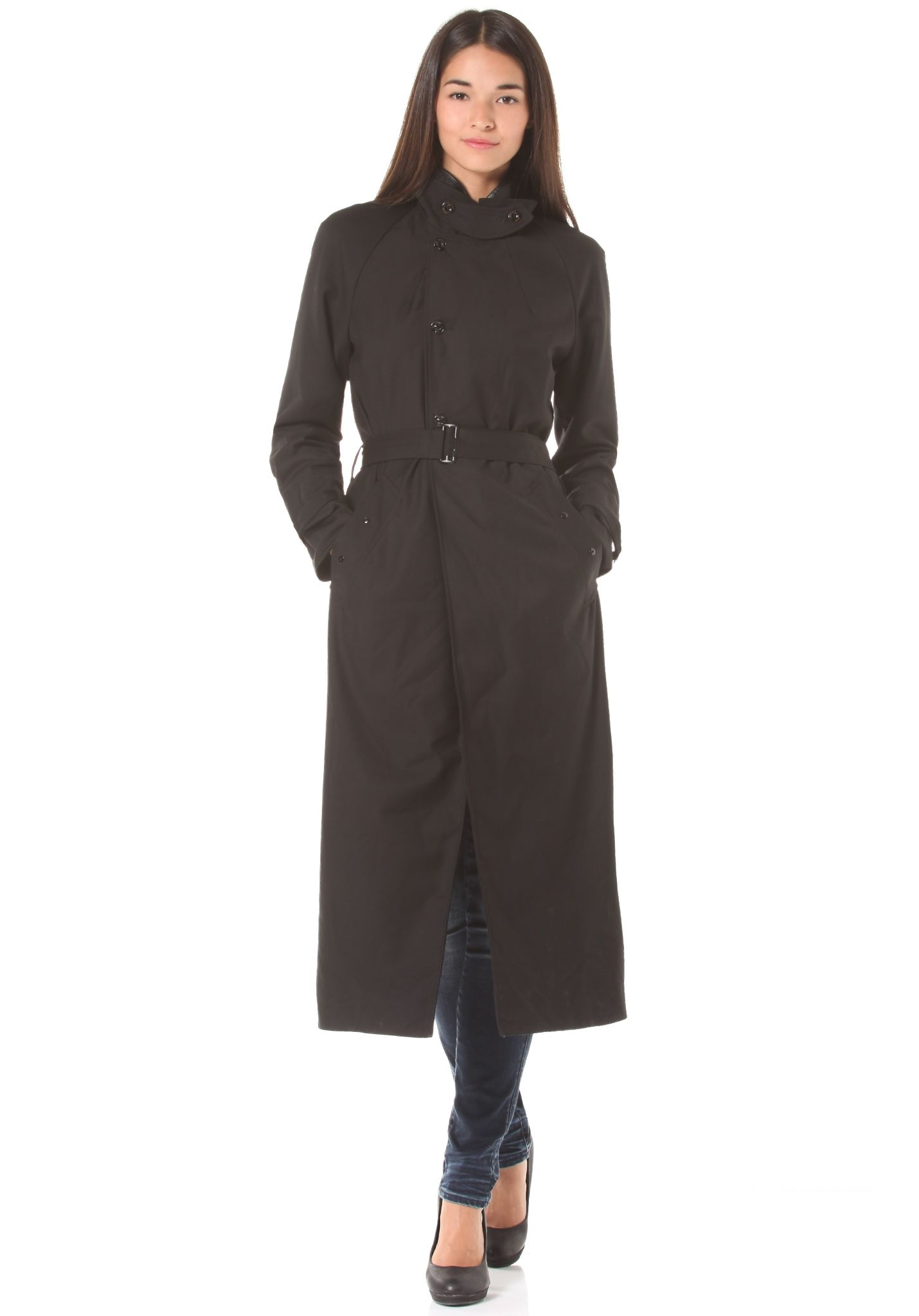G-STAR Minor Loose Trench Moncton Twill - Coat for Women - Black - Planet  Sports e9a601b9378d